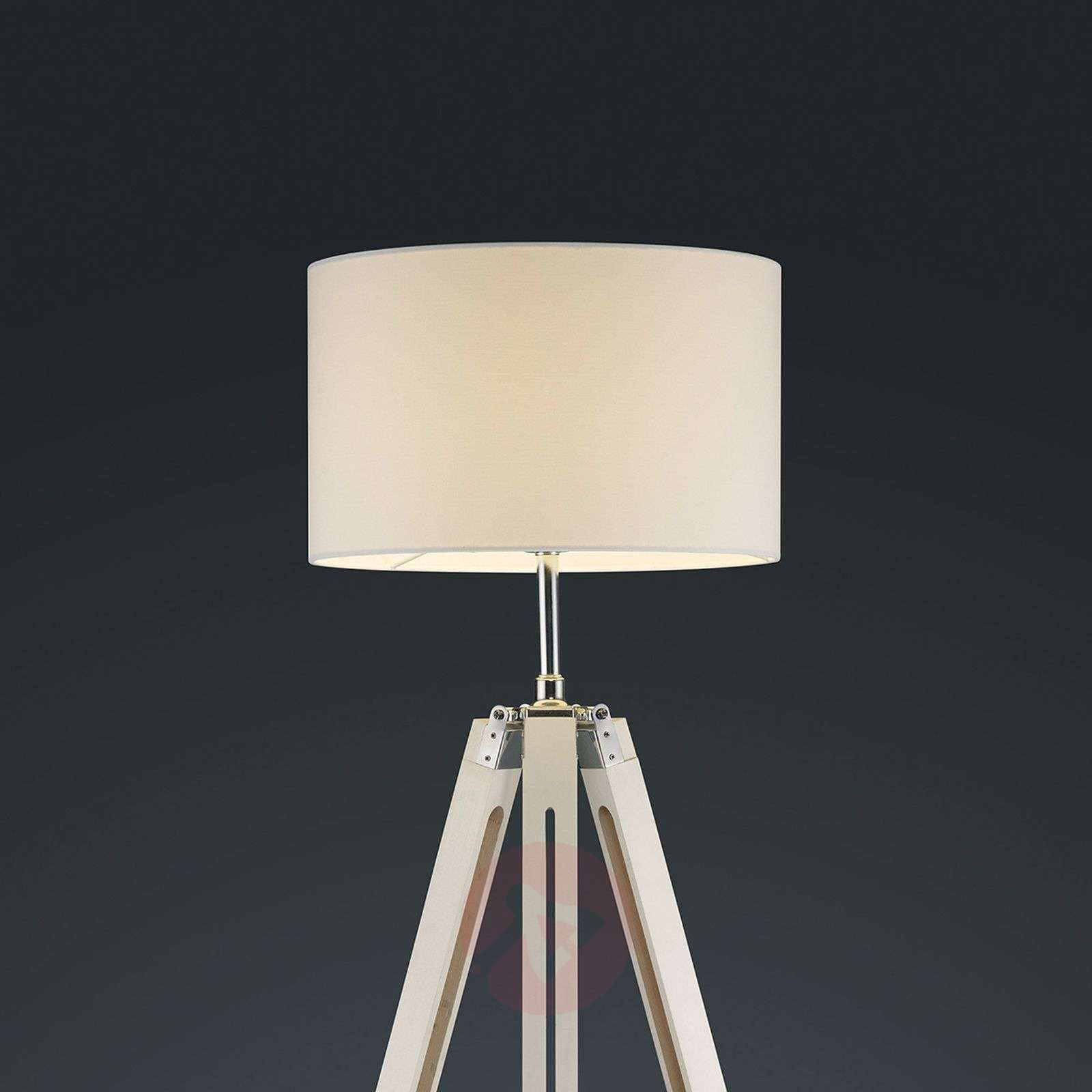 Gent three-legged floor lamp with white lampshade-9005103-01