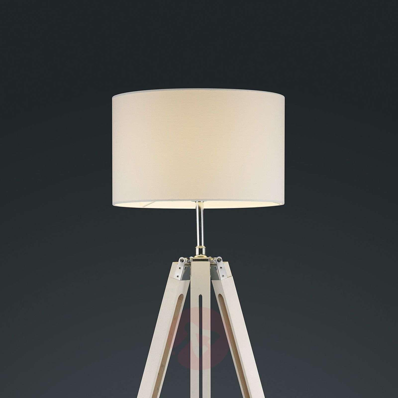 Gent three-legged floor lamp with white lampshade-9005103-01