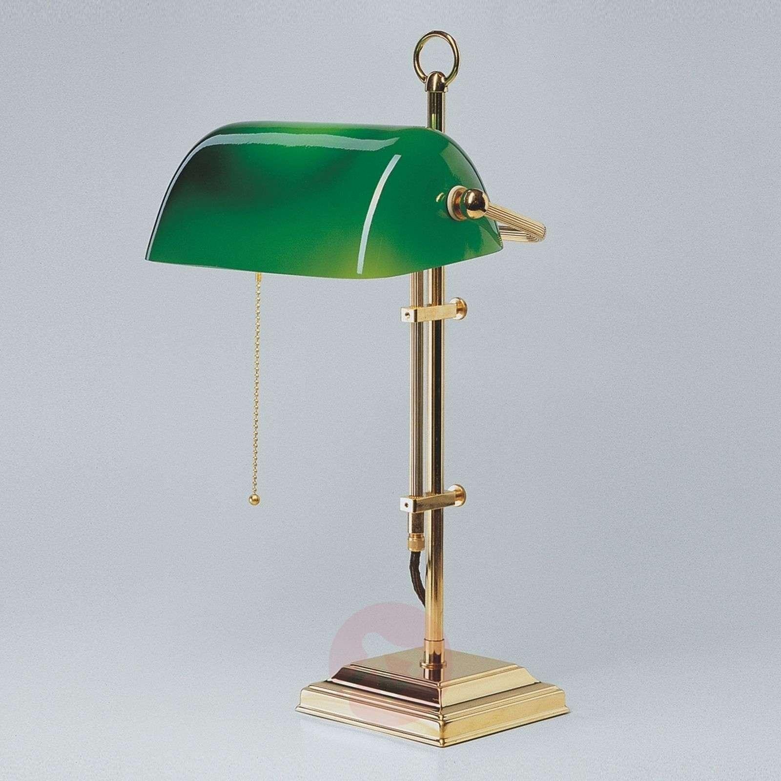 GITA bankers lamp made of polished brass-1542004-01