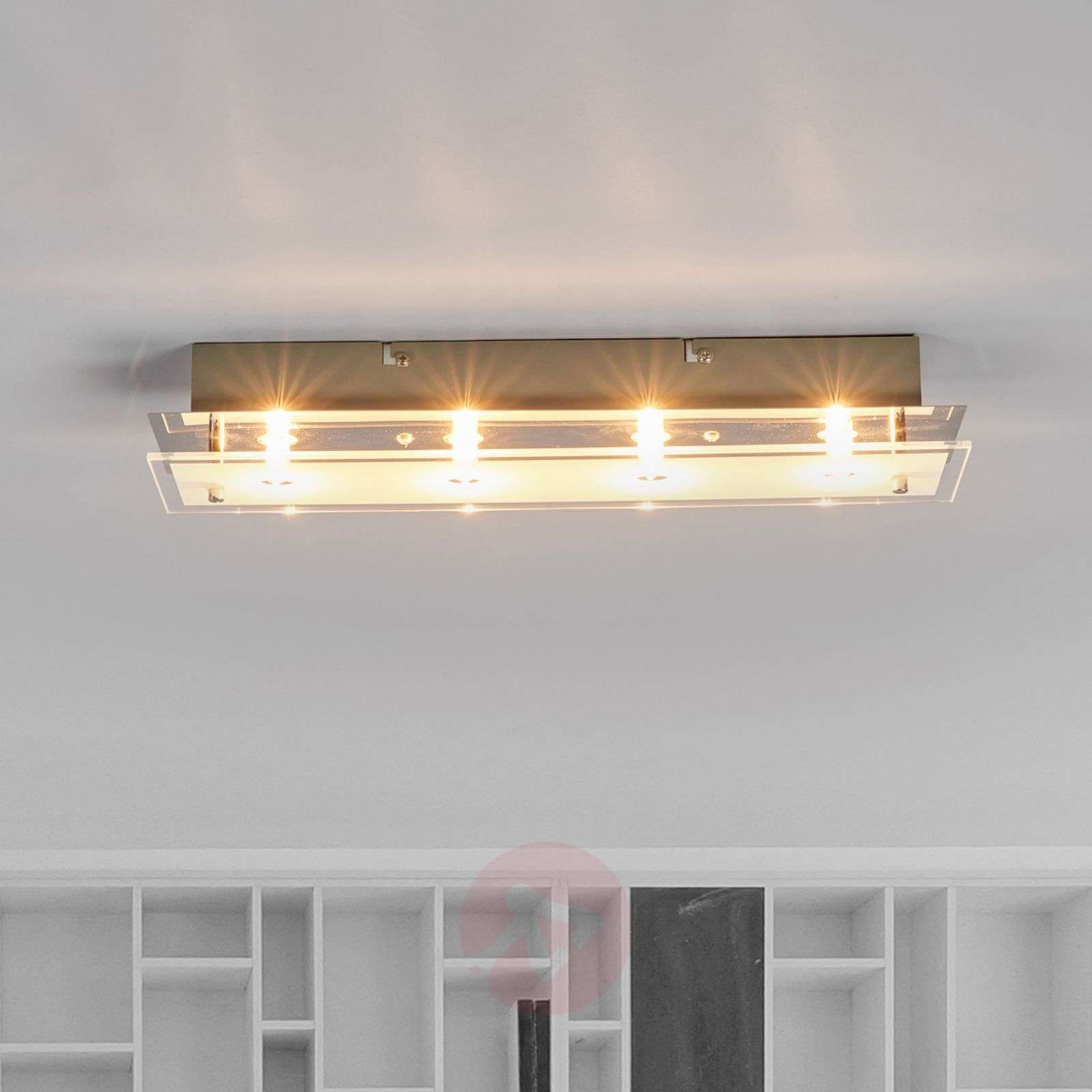 Glass ceiling light Levy with LED lamps-9994088-02