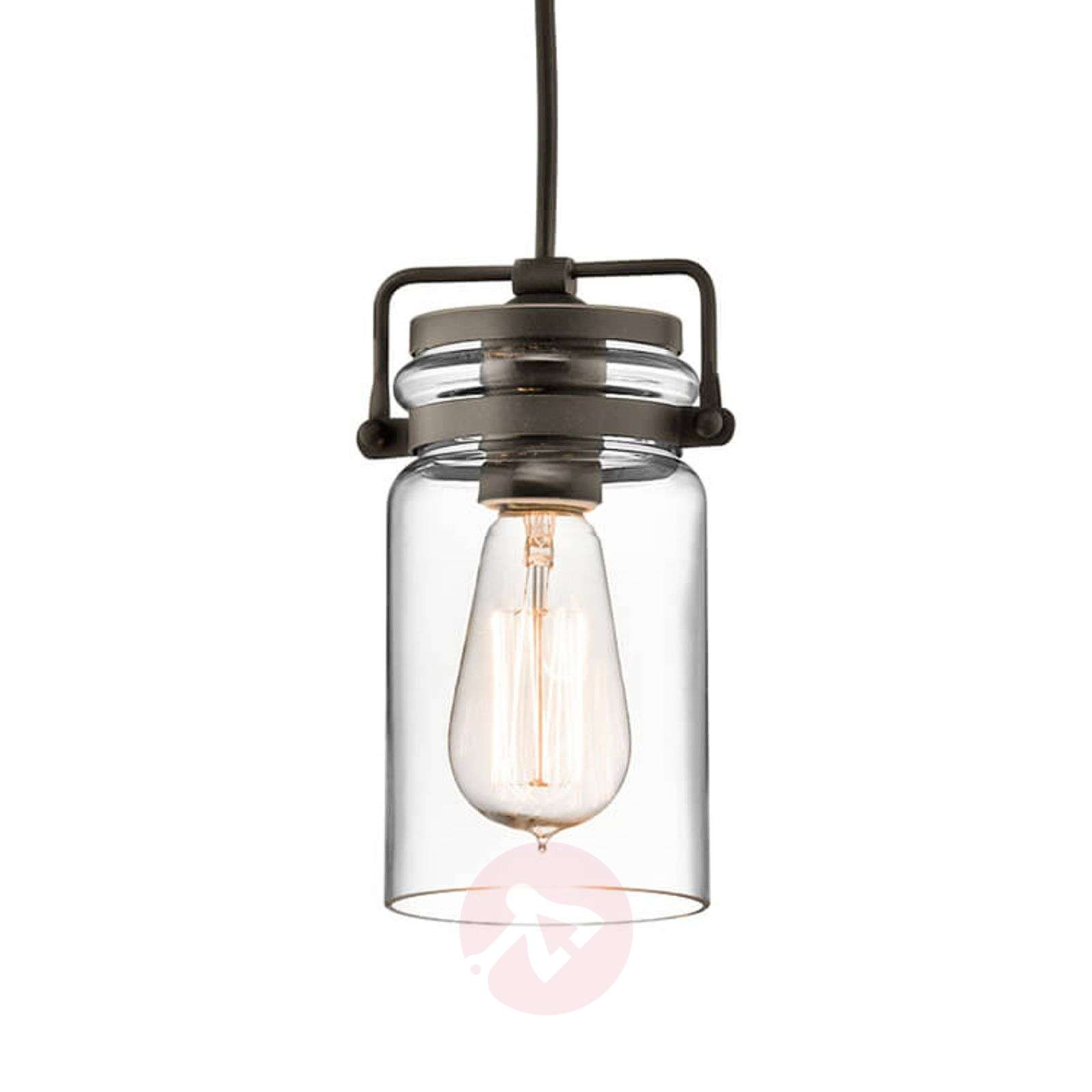 Glass hanging lamp Brinley one-bulb-3048602-01