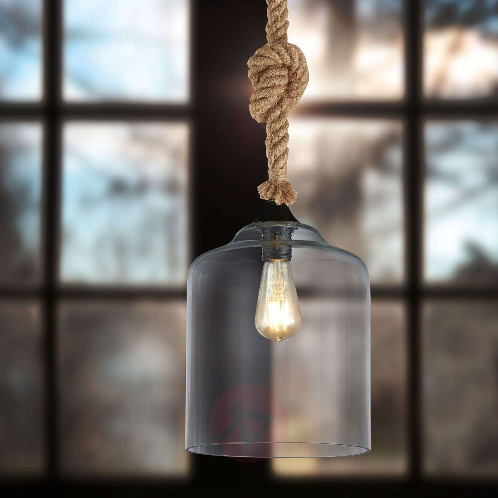 Glass hanging lamp Judith with a maritime design-9005206-01