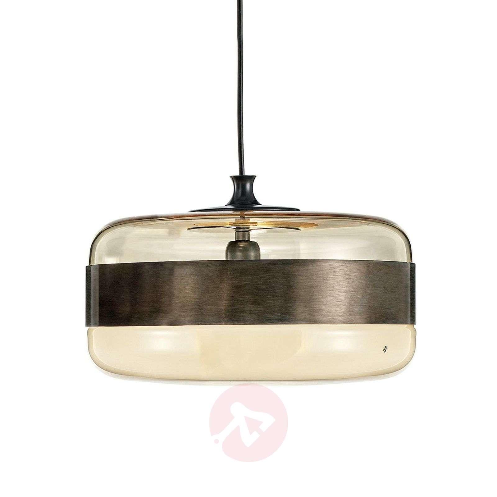 huge discount 06f45 7a884 Glass hanging light Futura in bronze, 40 cm