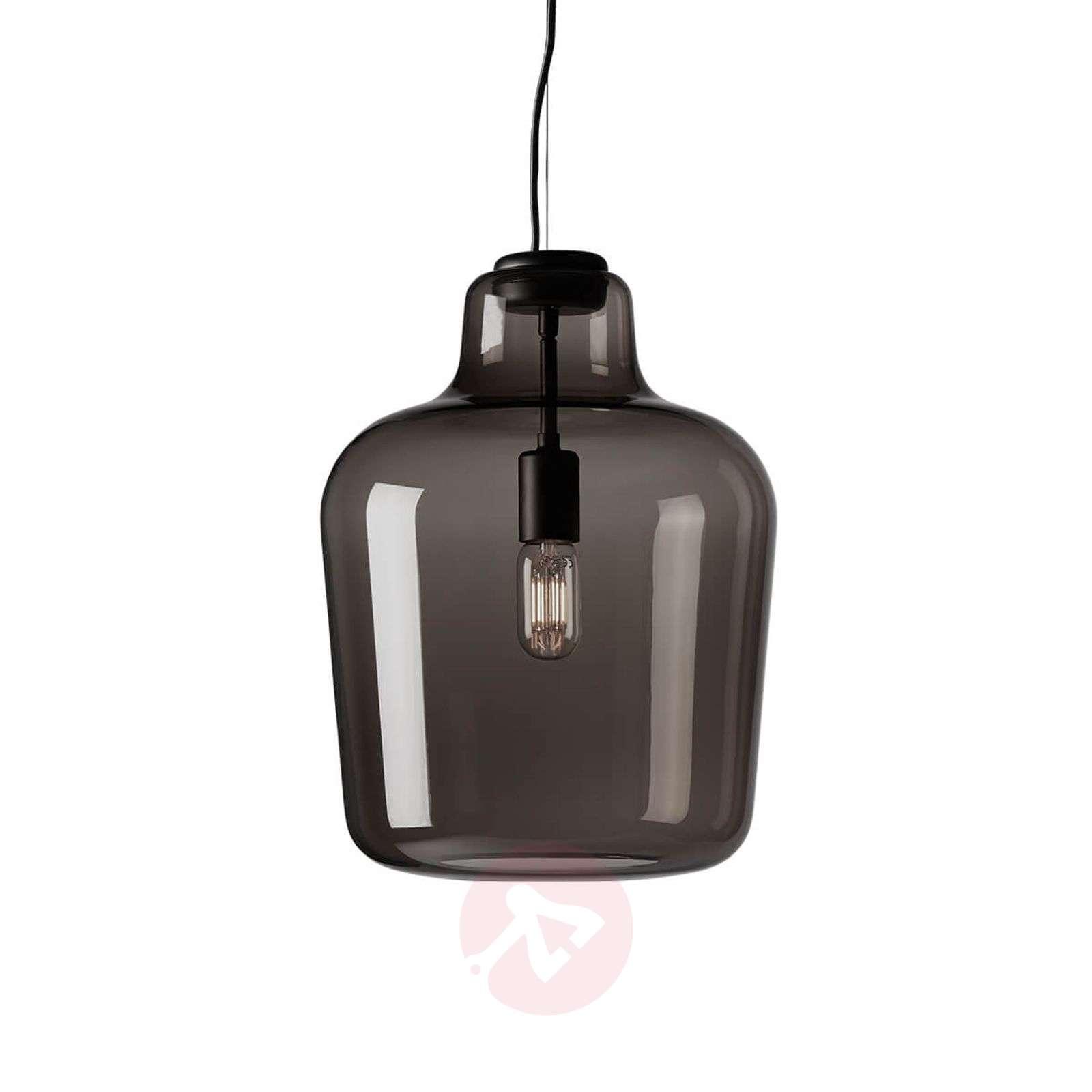 Glass hanging light Say my name, smoky grey-7013099-01