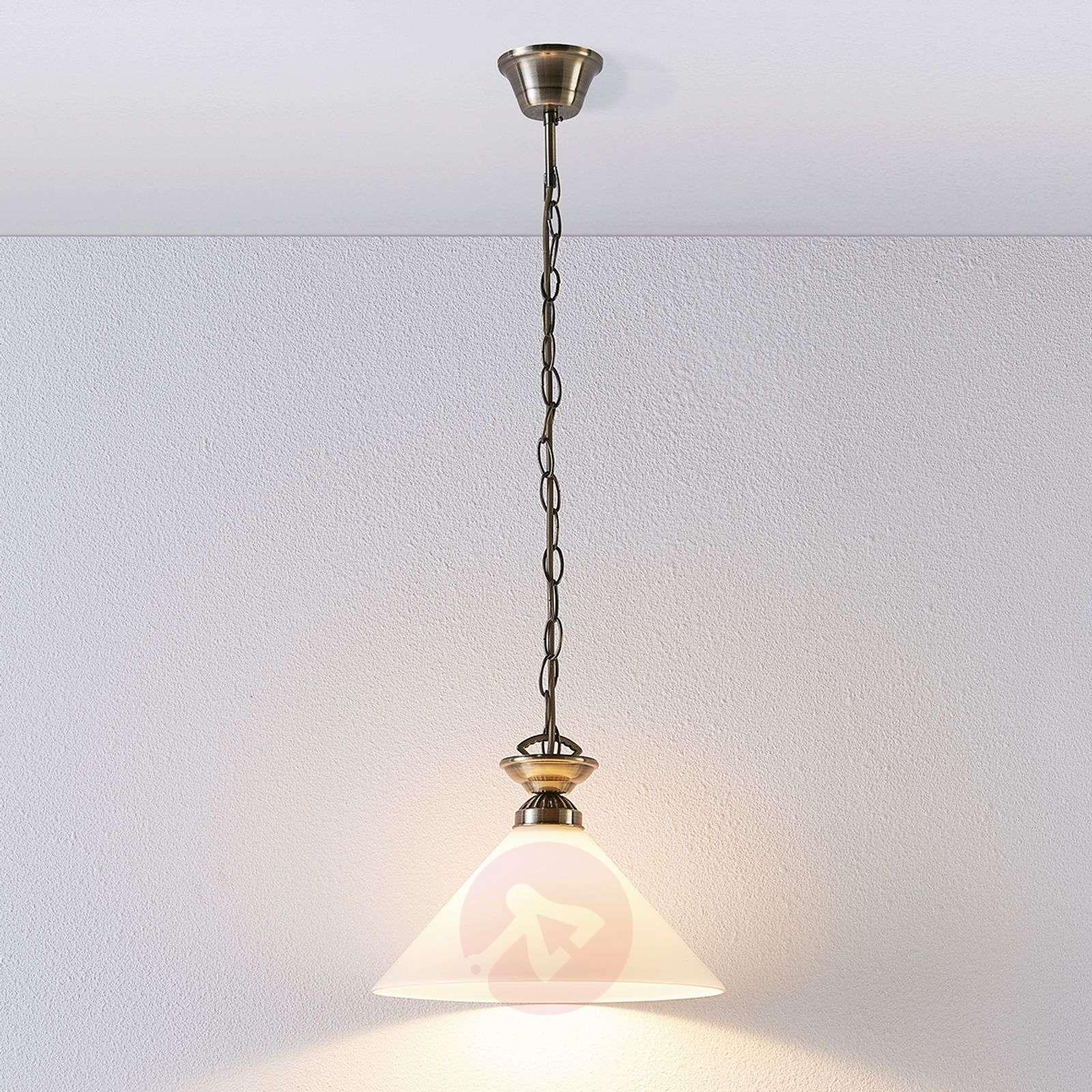 Glass pendant lamp Otis, antique brass-9621031-03