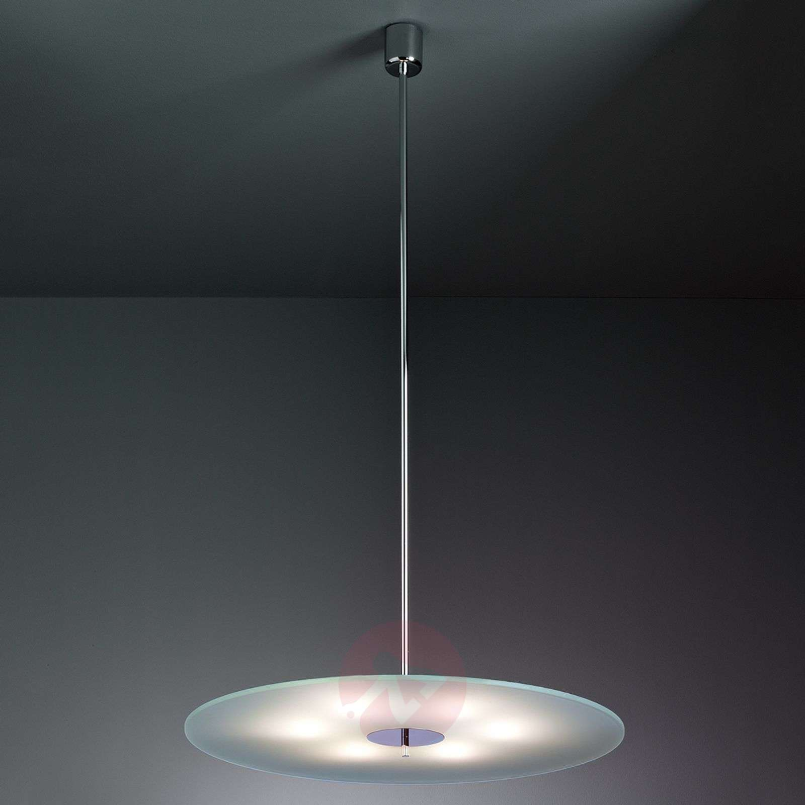 Glass pendant light 70 cm by Hans Przyrembel-9030204-01
