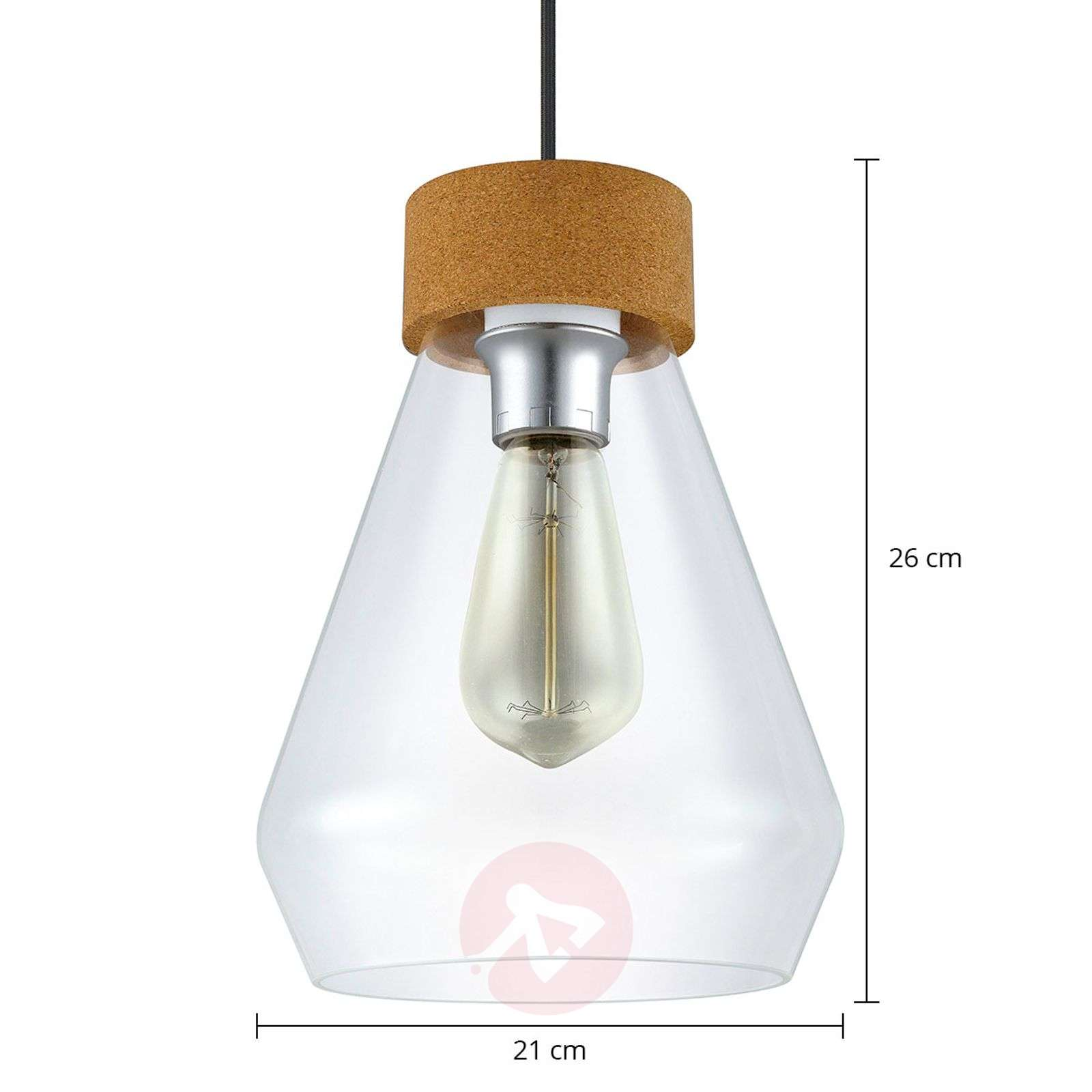 Glass pendant light Brixham-3031871-01