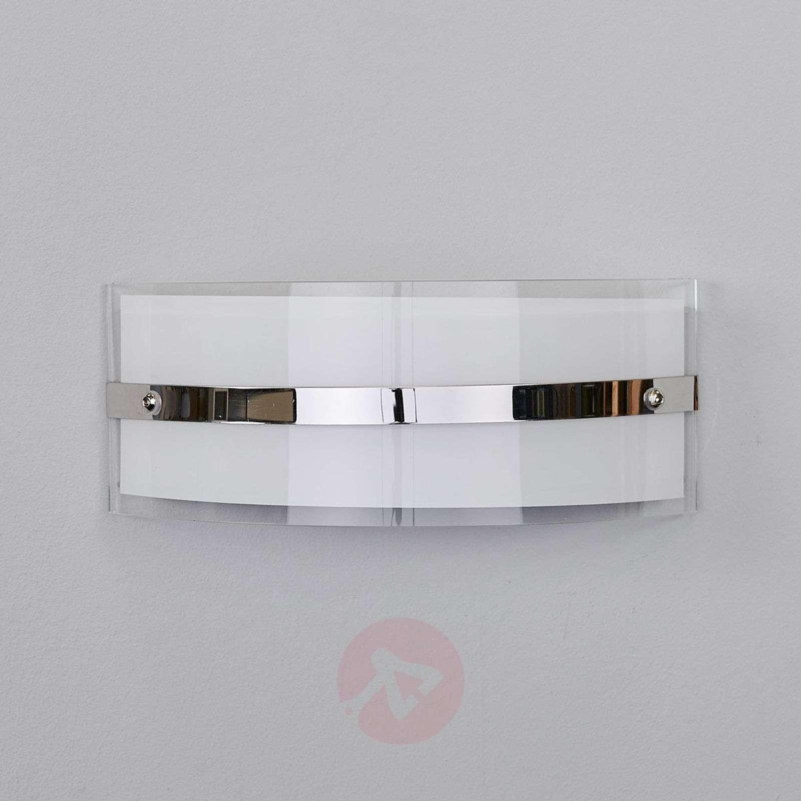 Glass wall lamp Lianda with LEDs, chrome-plated-9634065-01