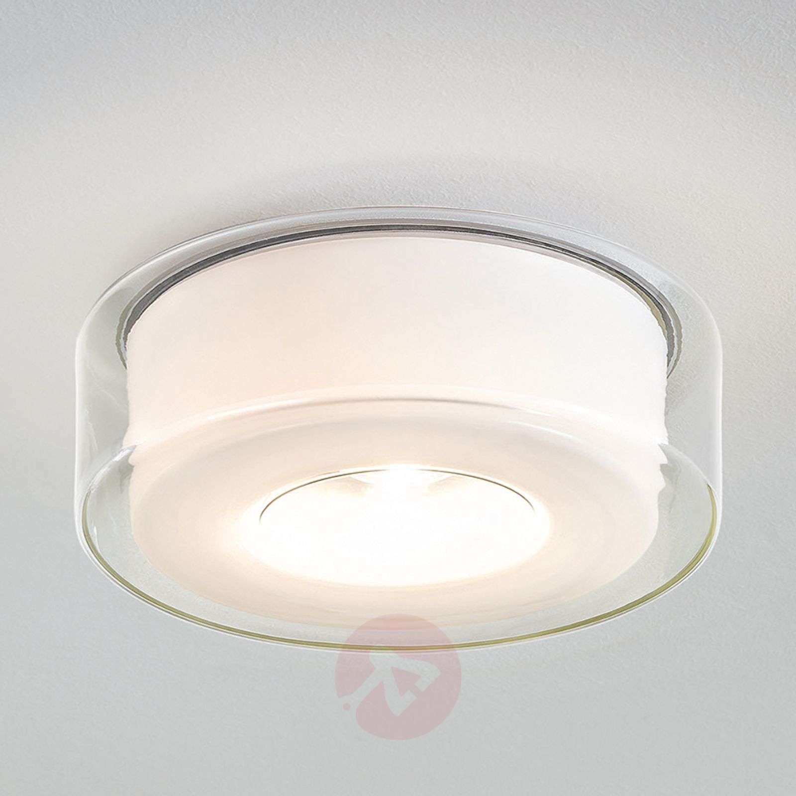 contemporary ceiling lighting. Glazed LED Designer Ceiling Light Curling-8550016-01 Contemporary Lighting B