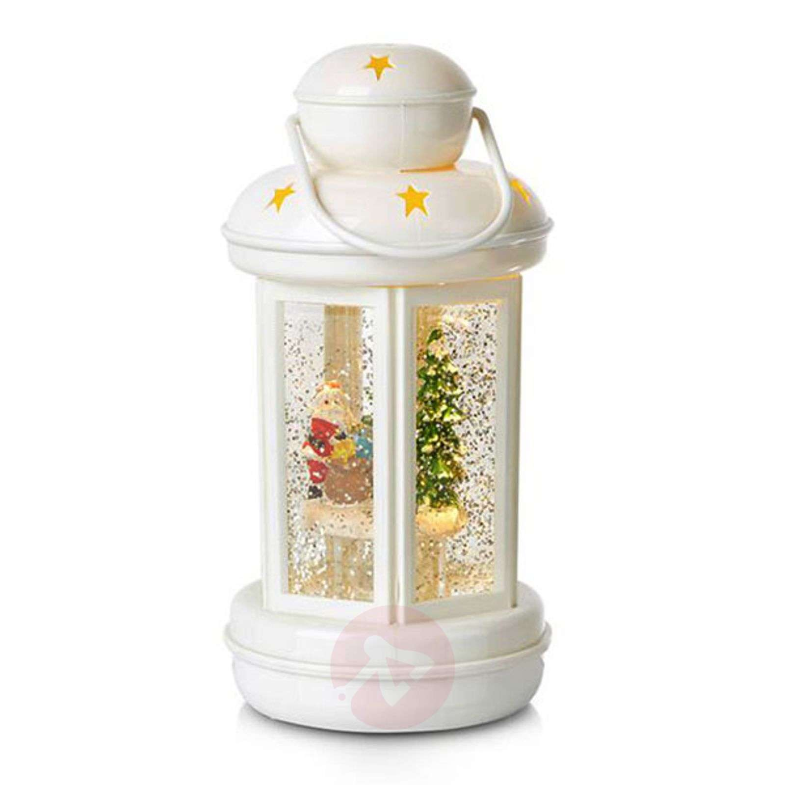 Glitter-filled decorative lantern Cosy LED-6507510X-01