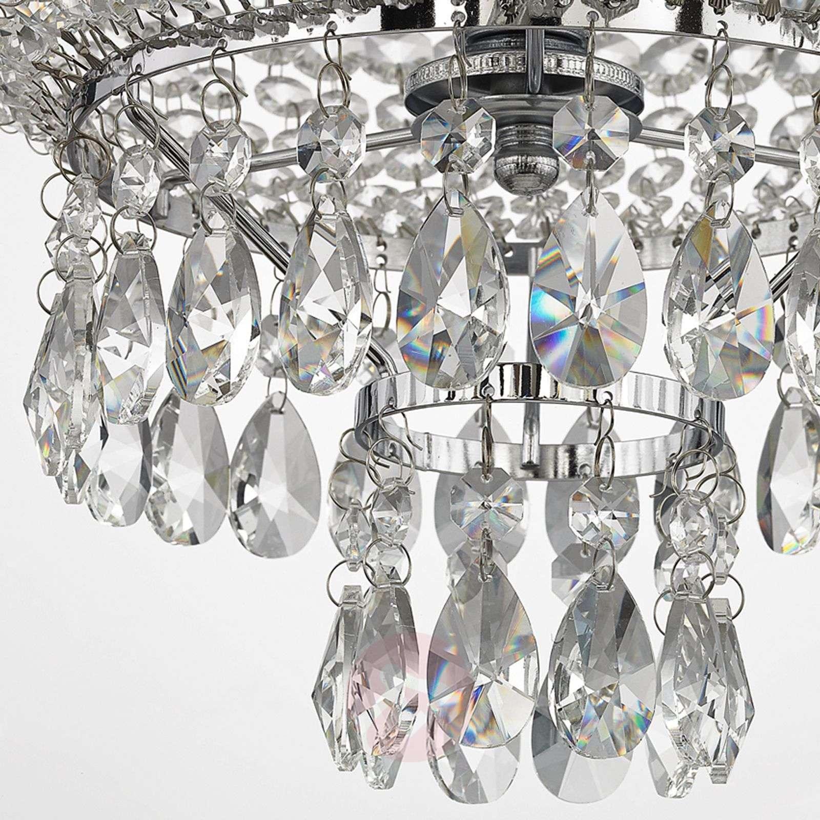 Glossy chrome crystal pendant light Casparia-9620364-013