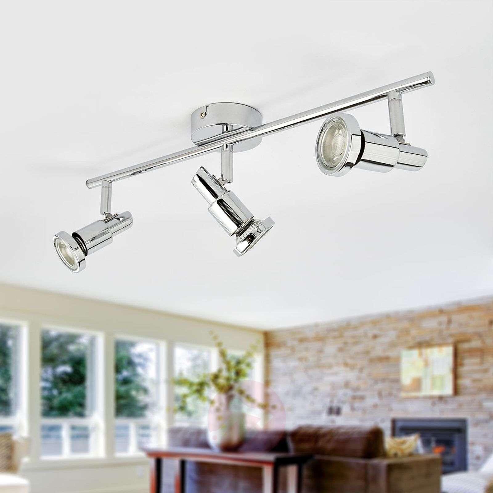 Glossy chrome LED ceiling lamp Thom, GU10-9954013-02