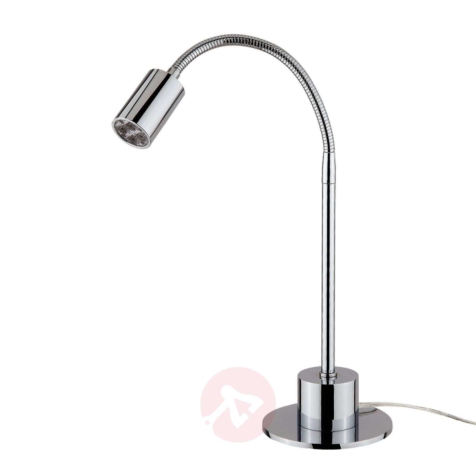 Glossy chrome LED table lamp Karen_1524092_1