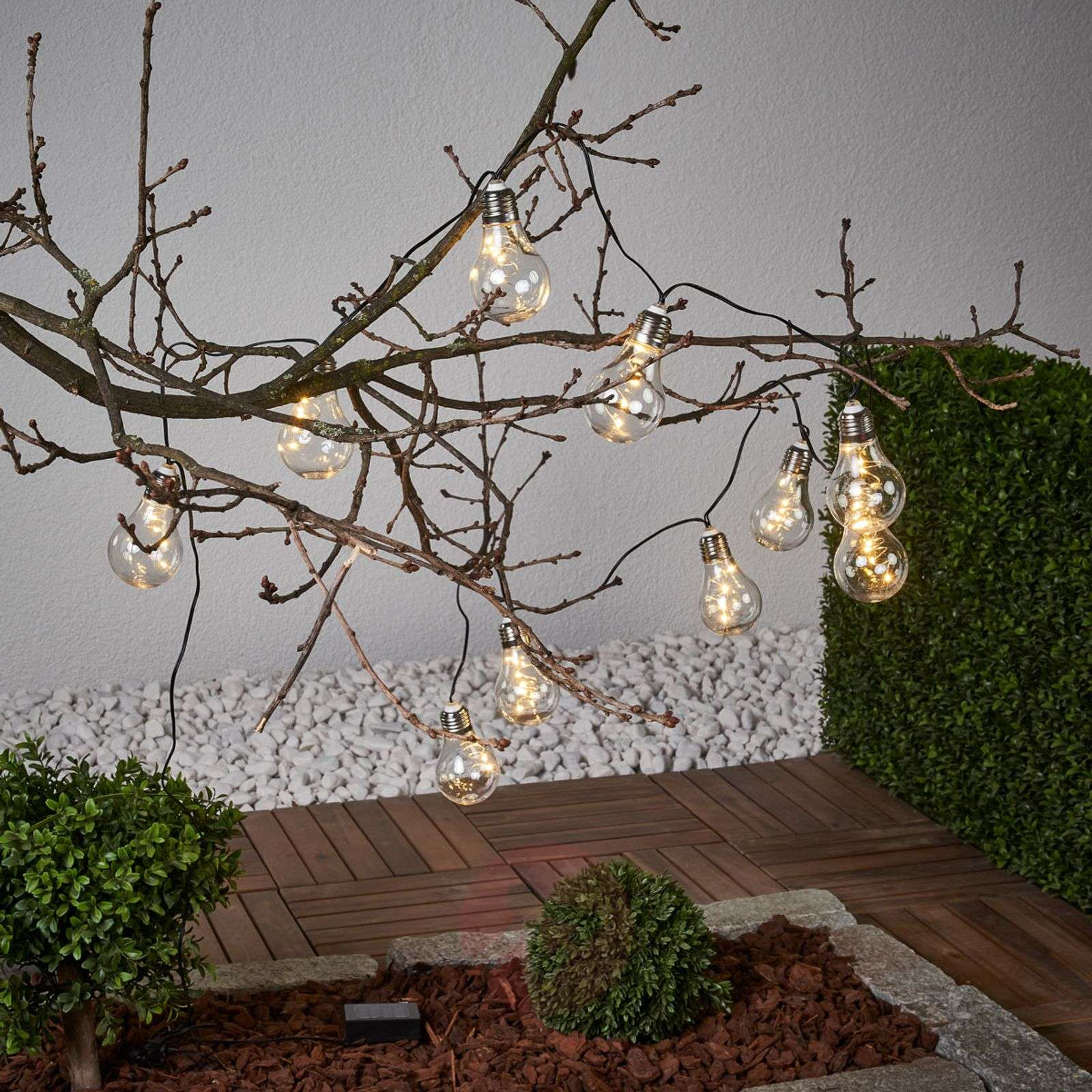 Glow clear string lights with solar power-1523091-01