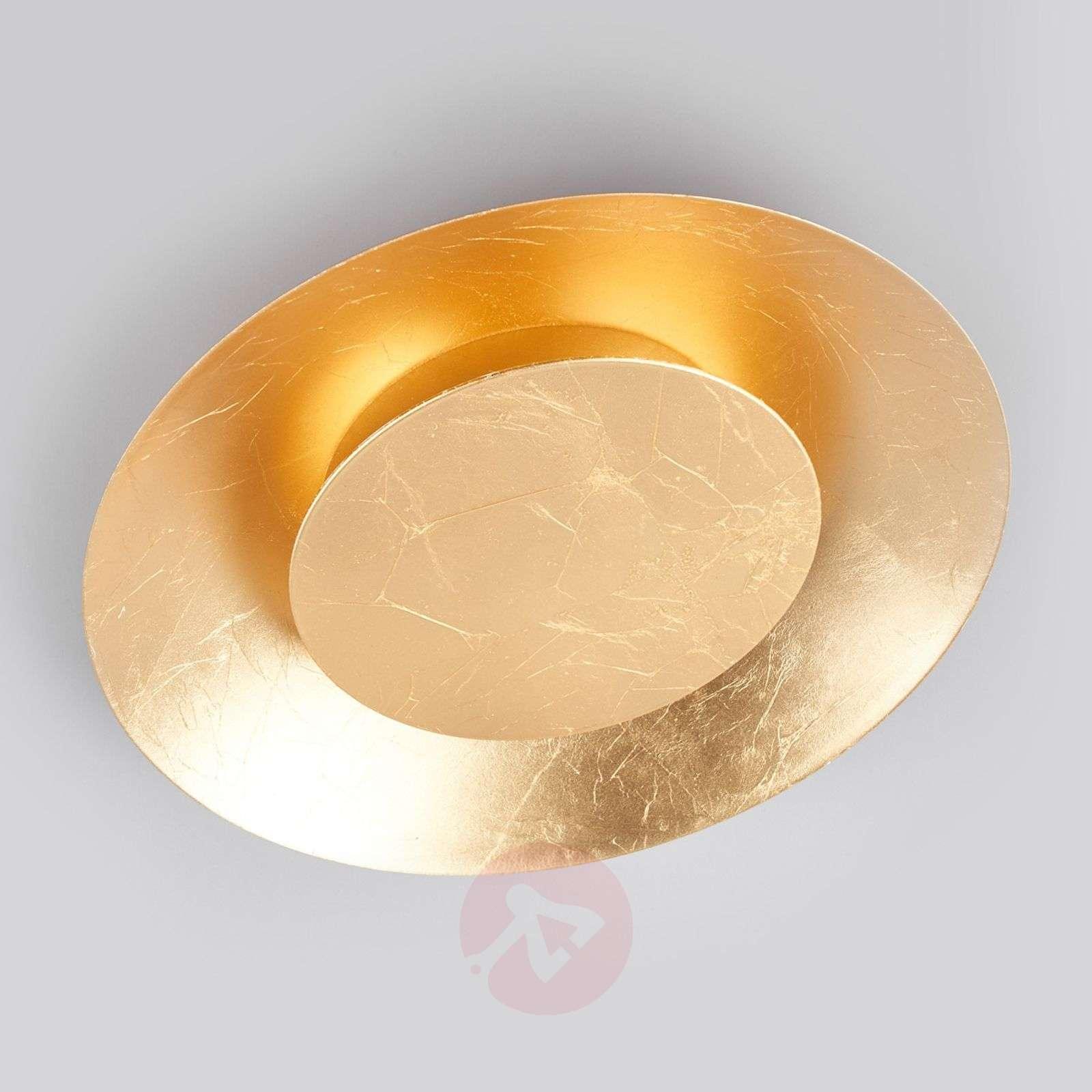 Gold coloured led ceiling light keti lights gold coloured led ceiling light keti 9625046 01 aloadofball Gallery