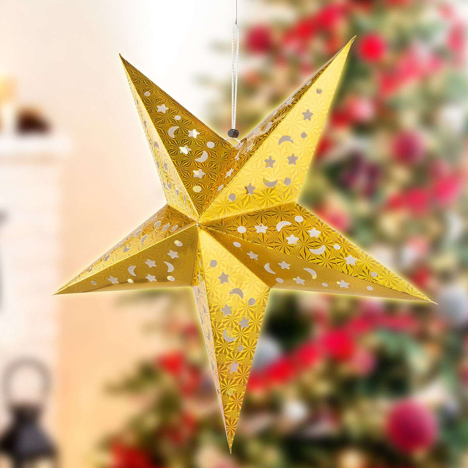 Gold-coloured paper star X-Mas 3D with LEDs-4015106-02