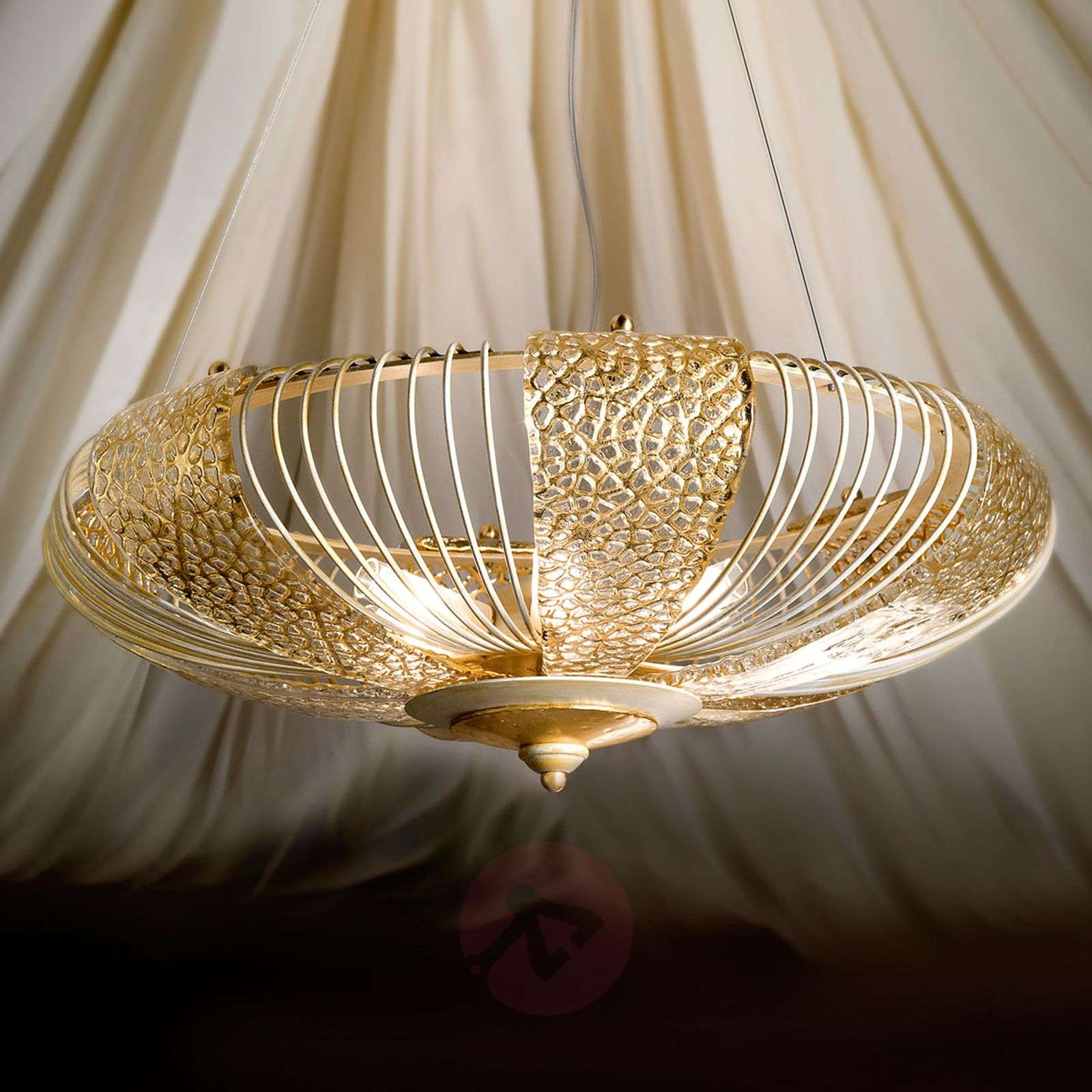 Gold etched hanging light Marrakech-6532090-01