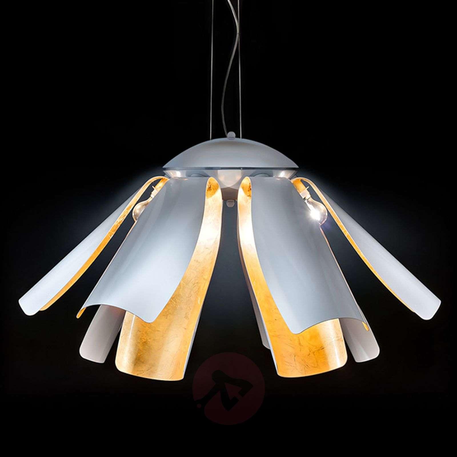 Gold leaf designer hanging light tropic 100 cm lights gold leaf designer hanging light tropic 100 cm 6511154 01 aloadofball Choice Image