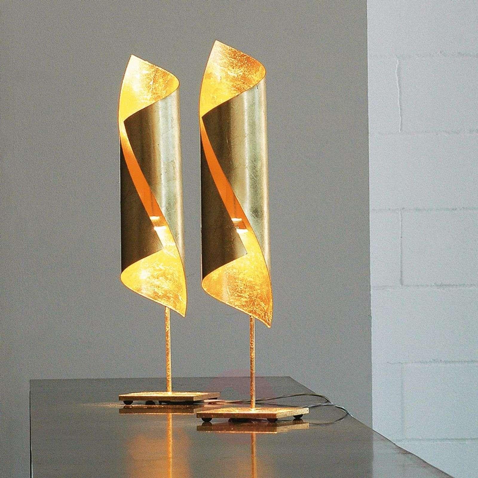 Gold leaf table lamp Hué, 70 cm tall-5538036-01