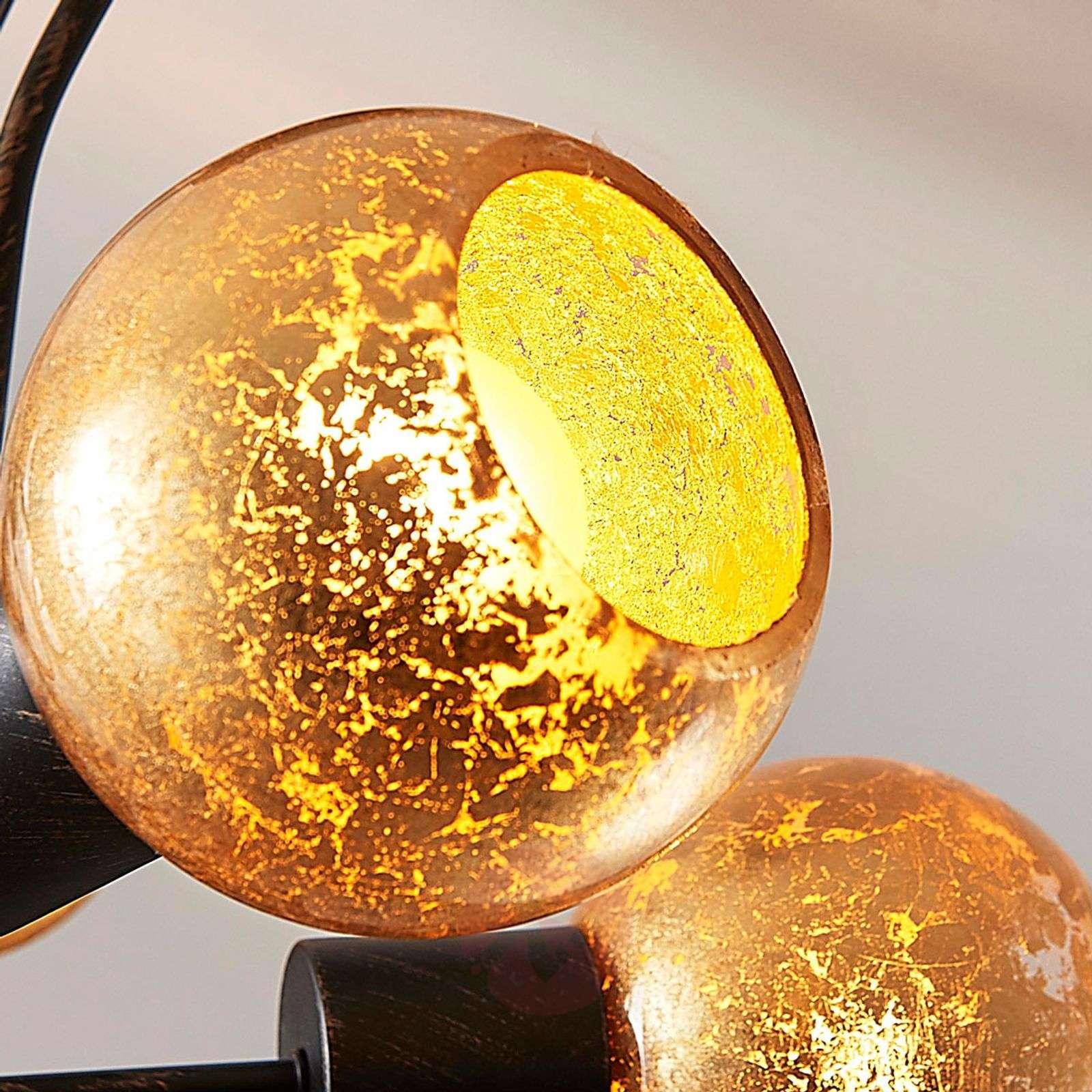 Golden ceiling lamp Julien, 5-bulb-9621301-02