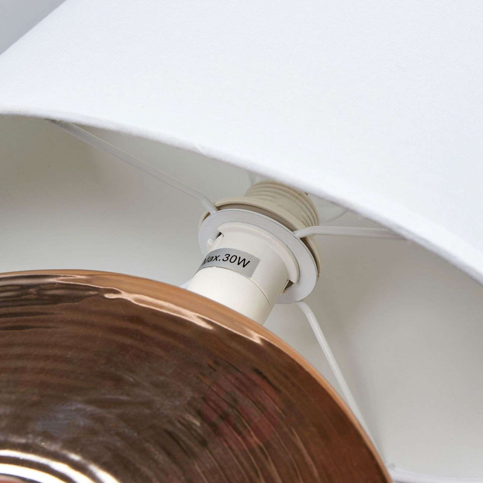 Golden ceramic base Eye table lamp 38 cm-4581283-01