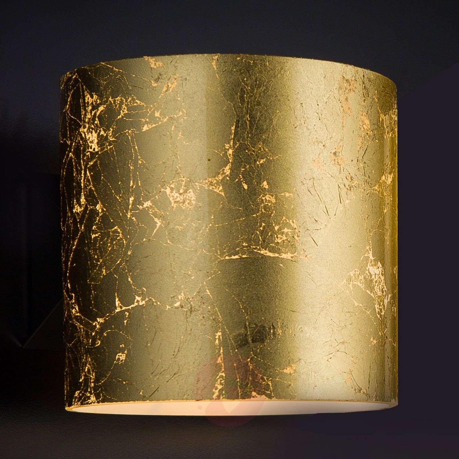 Golden designer wall light Brick, one-bulb-6511217-01