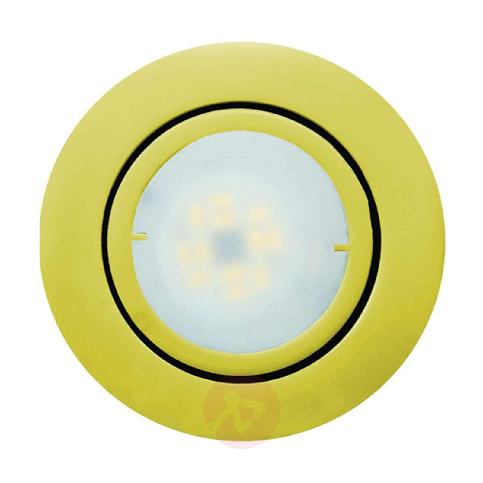 Golden LED recessed light Joanie, pivotable_1524113_1