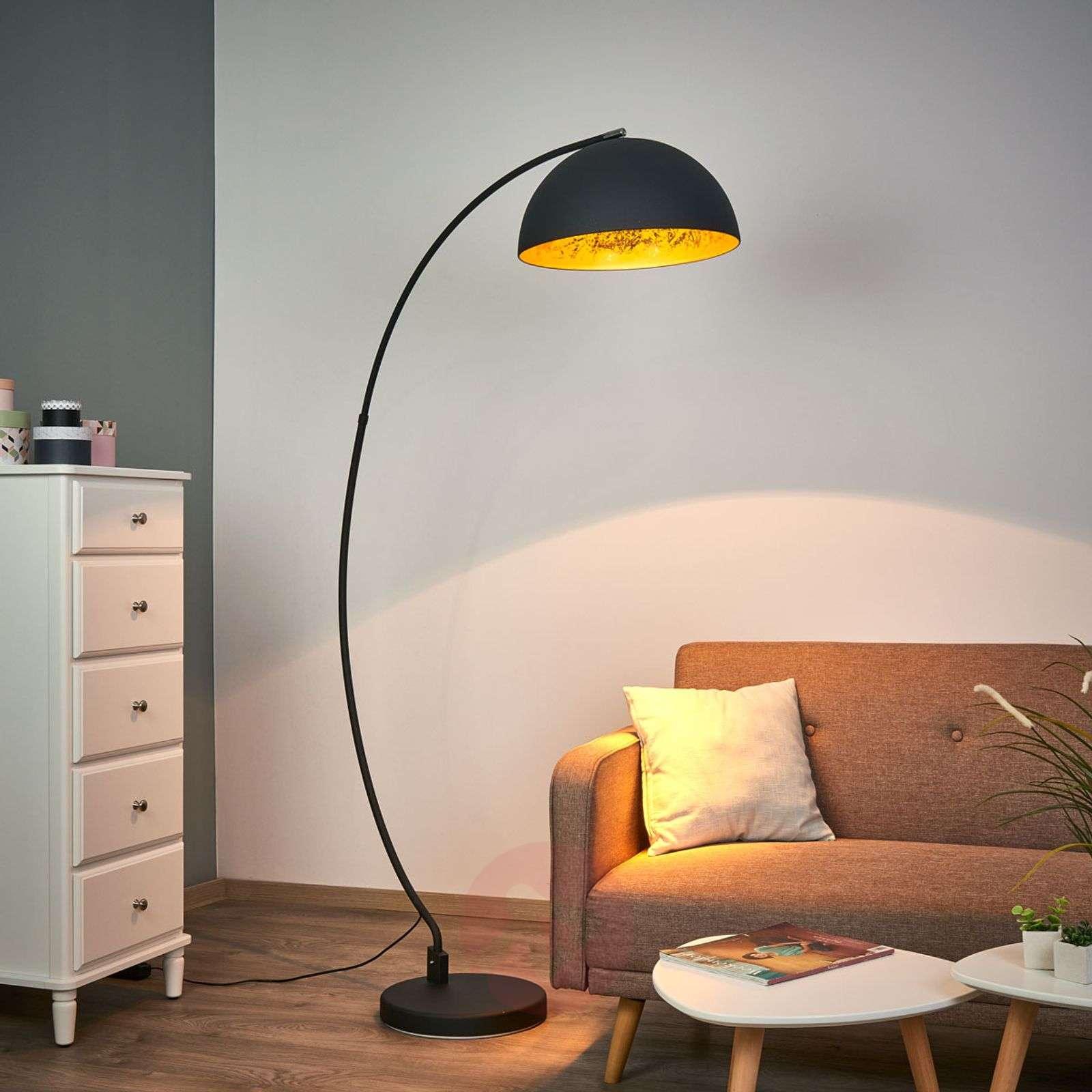 quality design f504c 91676 Golden Sun arc floor lamp