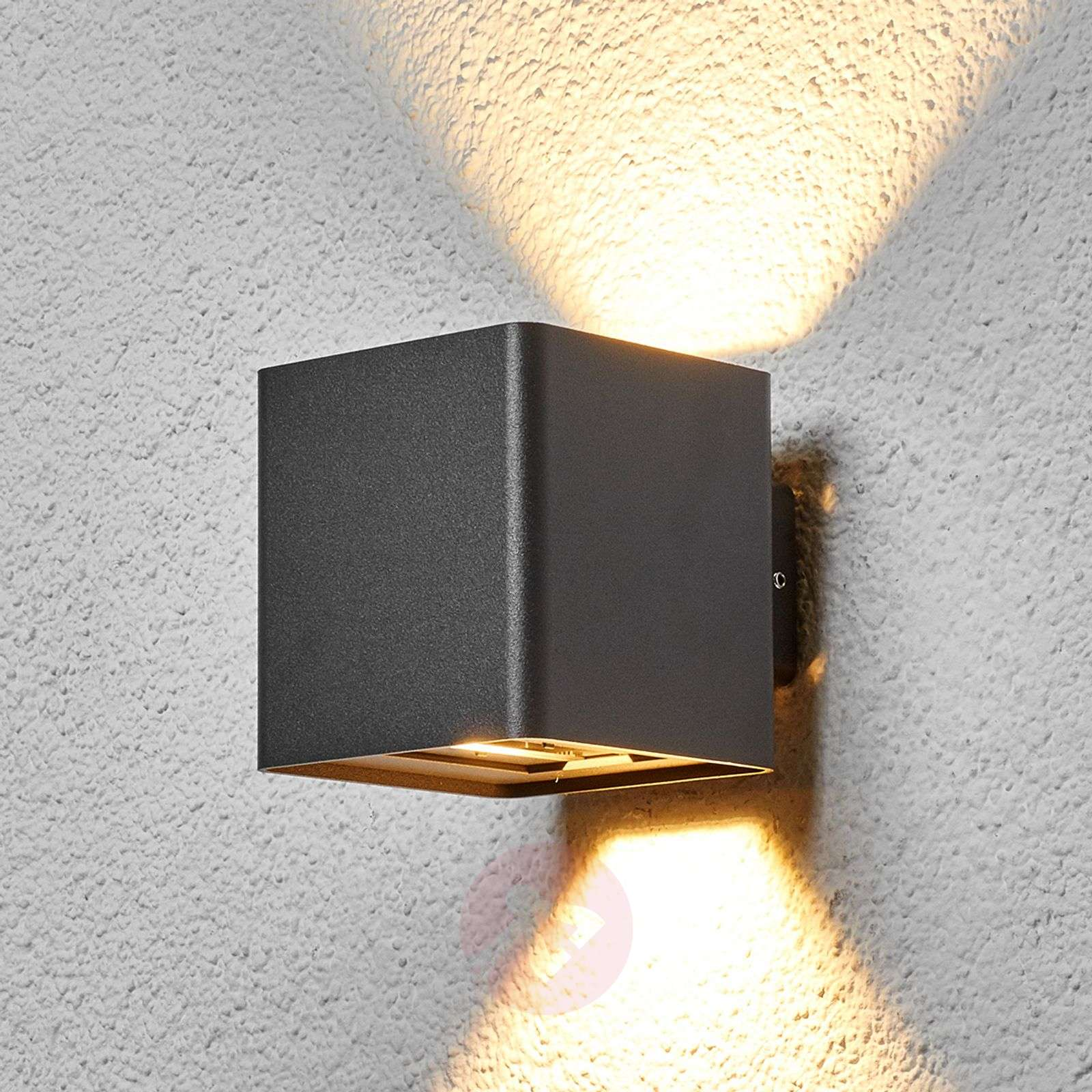 Graphite grey Aaron LED outdoor wall light-9616078-01