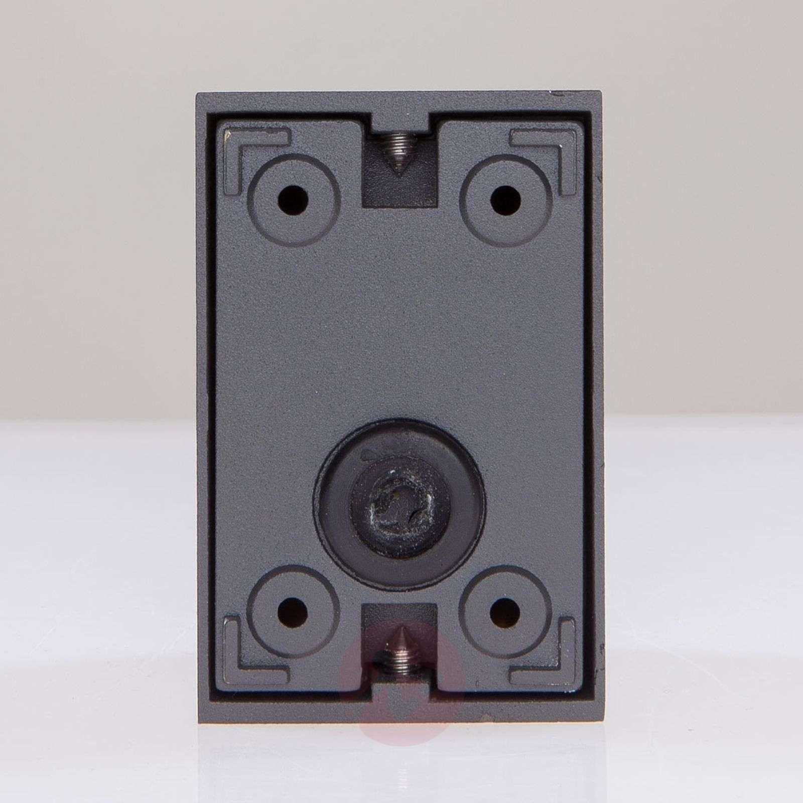 Graphite grey LED outdoor wall light Tavi, 9.5 cm-9616014-01