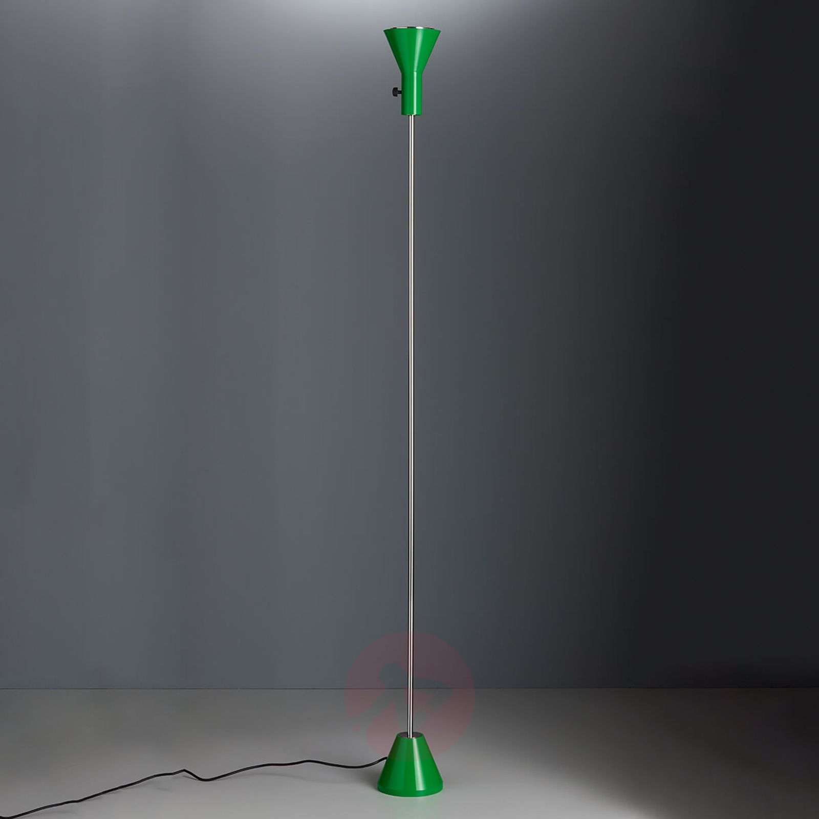 Green LED floor lamp Gru, dimmable-9030222-01
