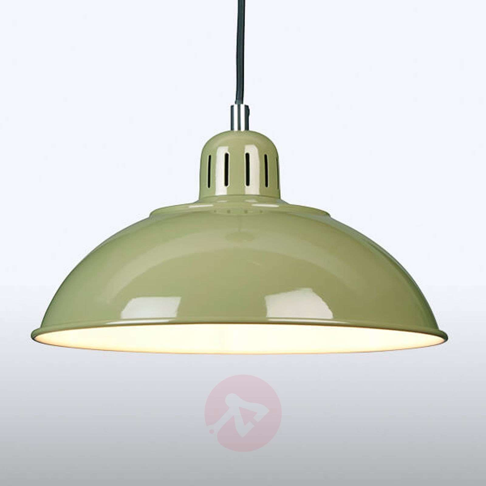 Green Pendant Light Franklin In A Retro Style