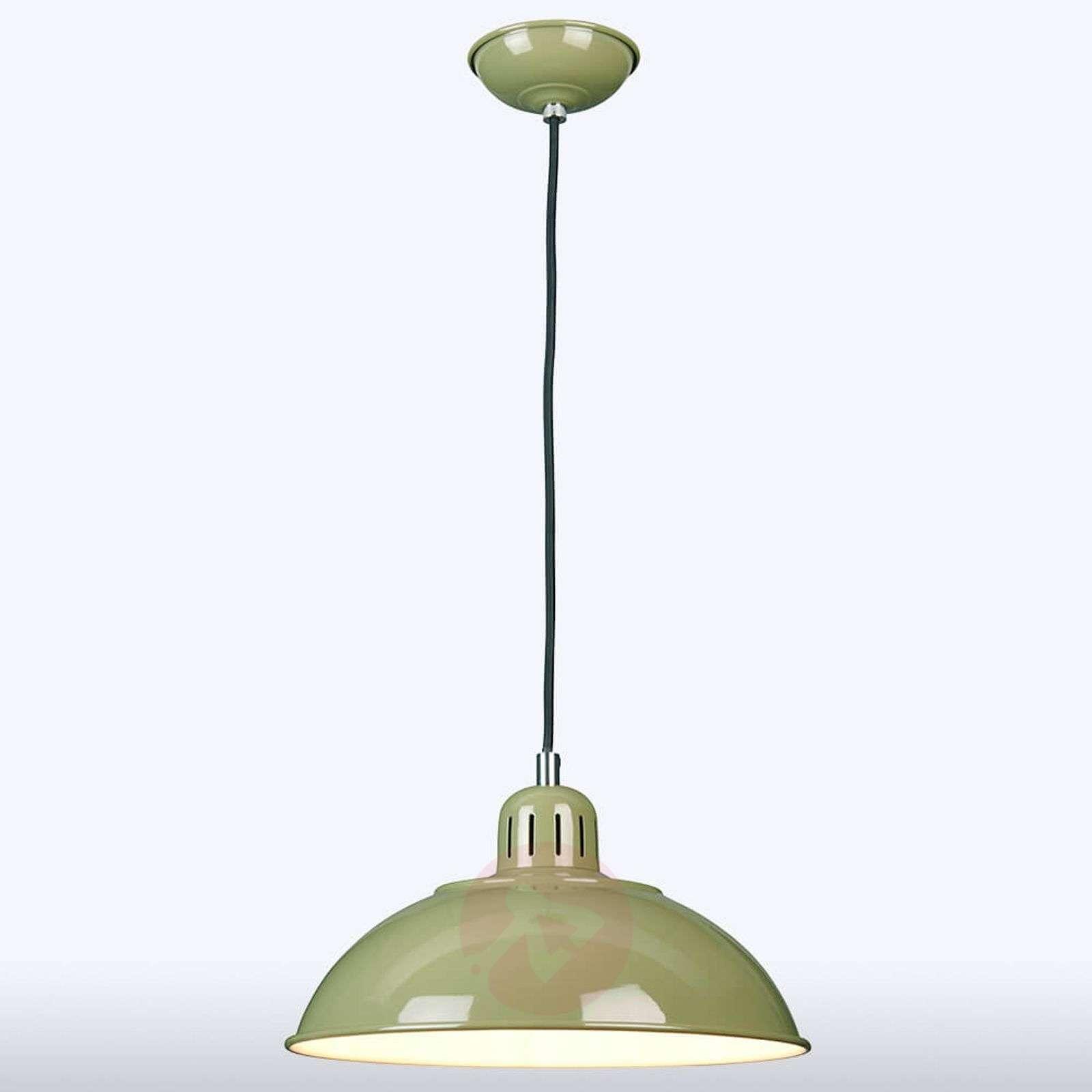 Green pendant light Franklin in a retro style-3048777-01