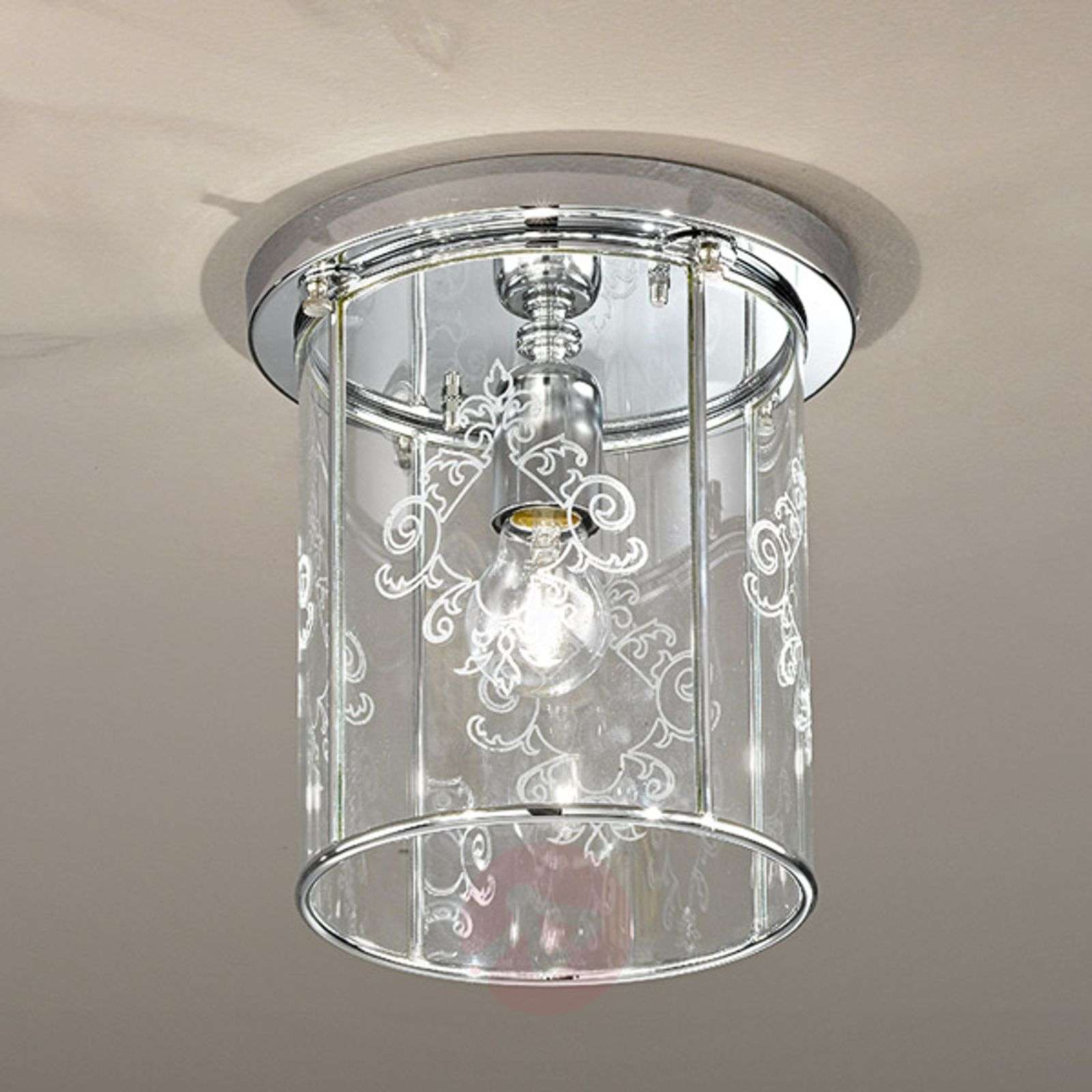Greta ceiling light with decorated crystal glass-2008232-01