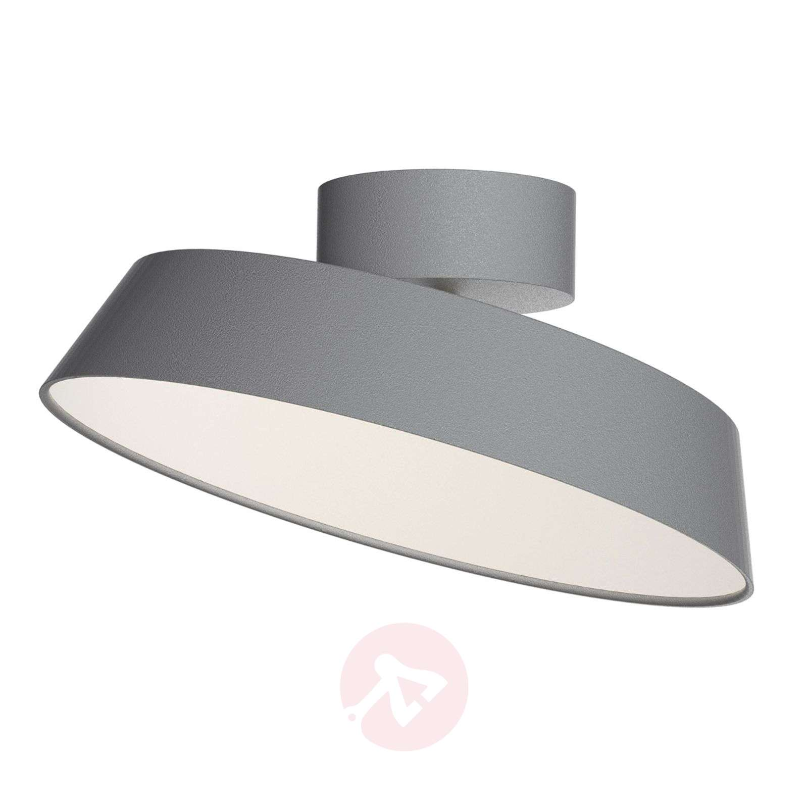 Grey Alba LED ceiling light with pivotable shade-7005962-01