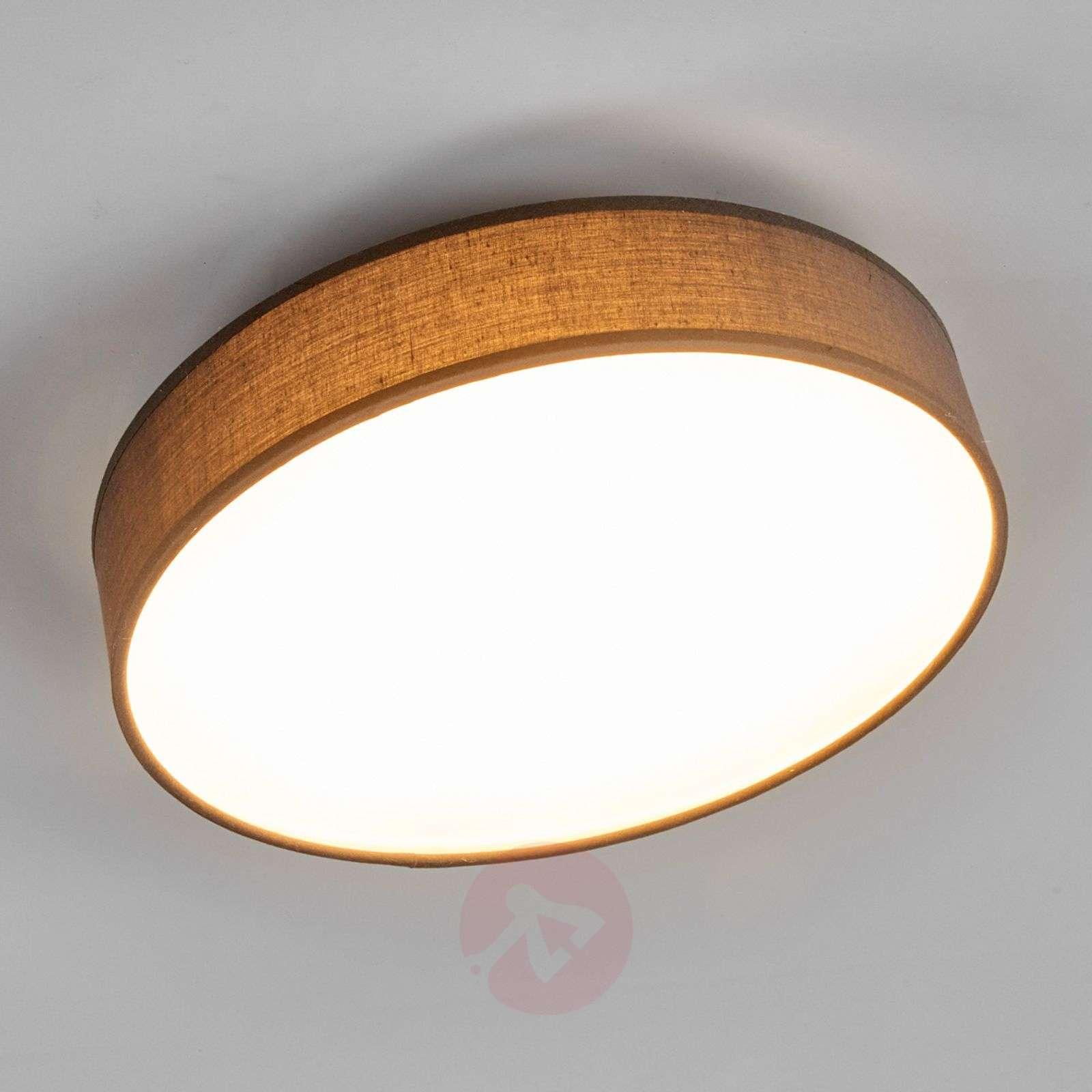 Grey fabric LED ceiling lamp Saira, 30 cm-9625088-02