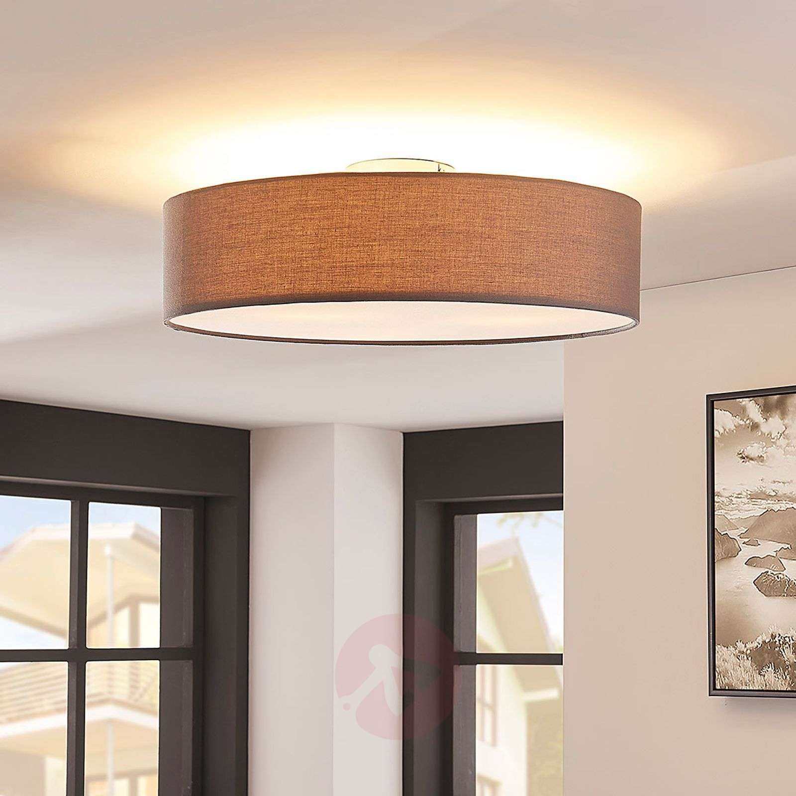 Grey LED fabric ceiling light Sebatin-9620330-02