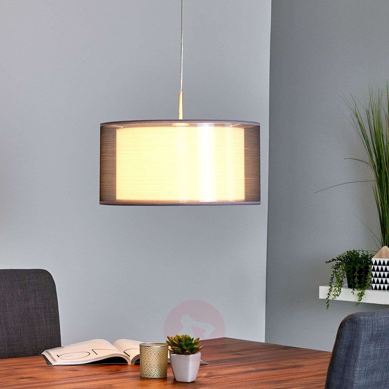 Grey Nica fabric pendant light-4018003-03