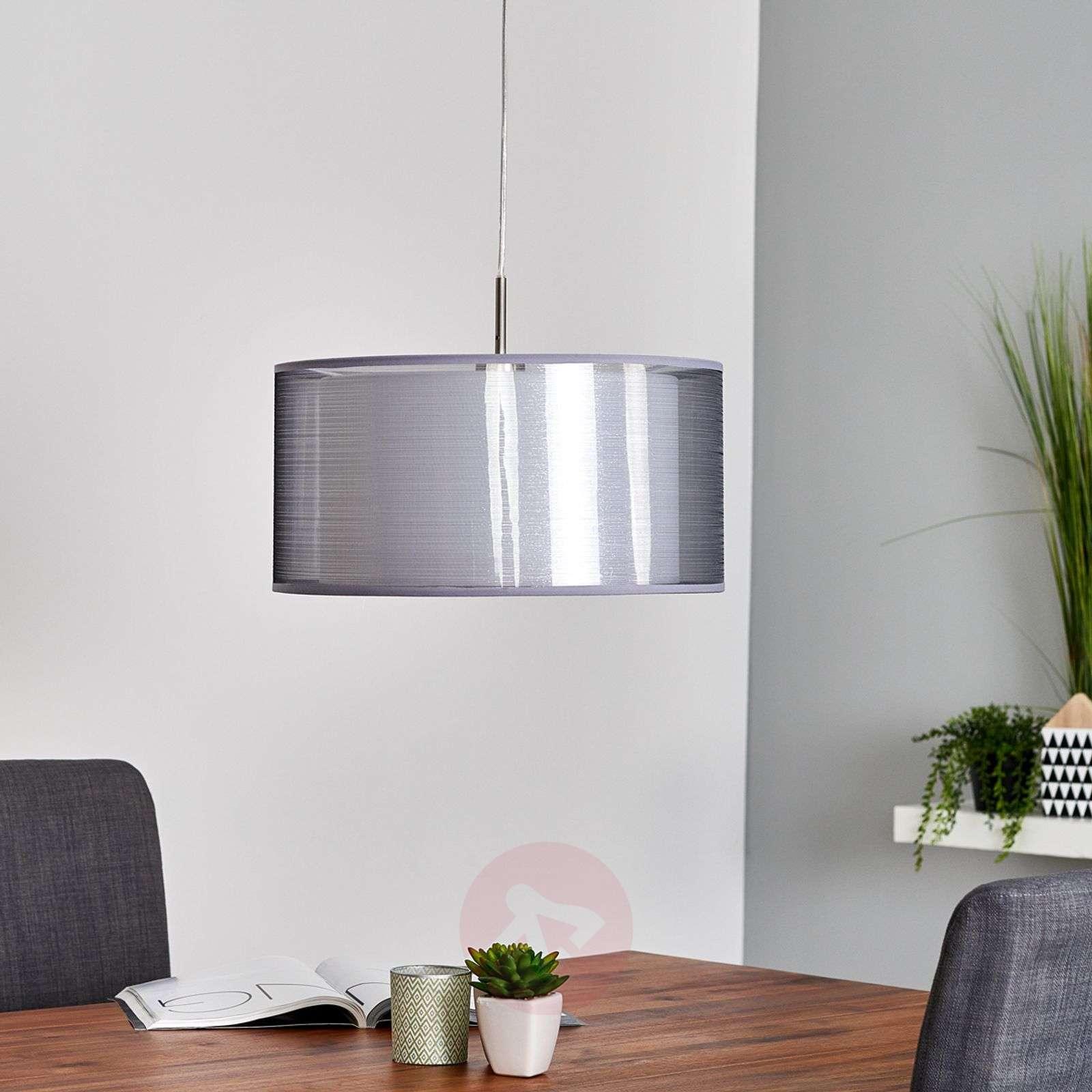 Grey Nica fabric pendant light-4018003-03
