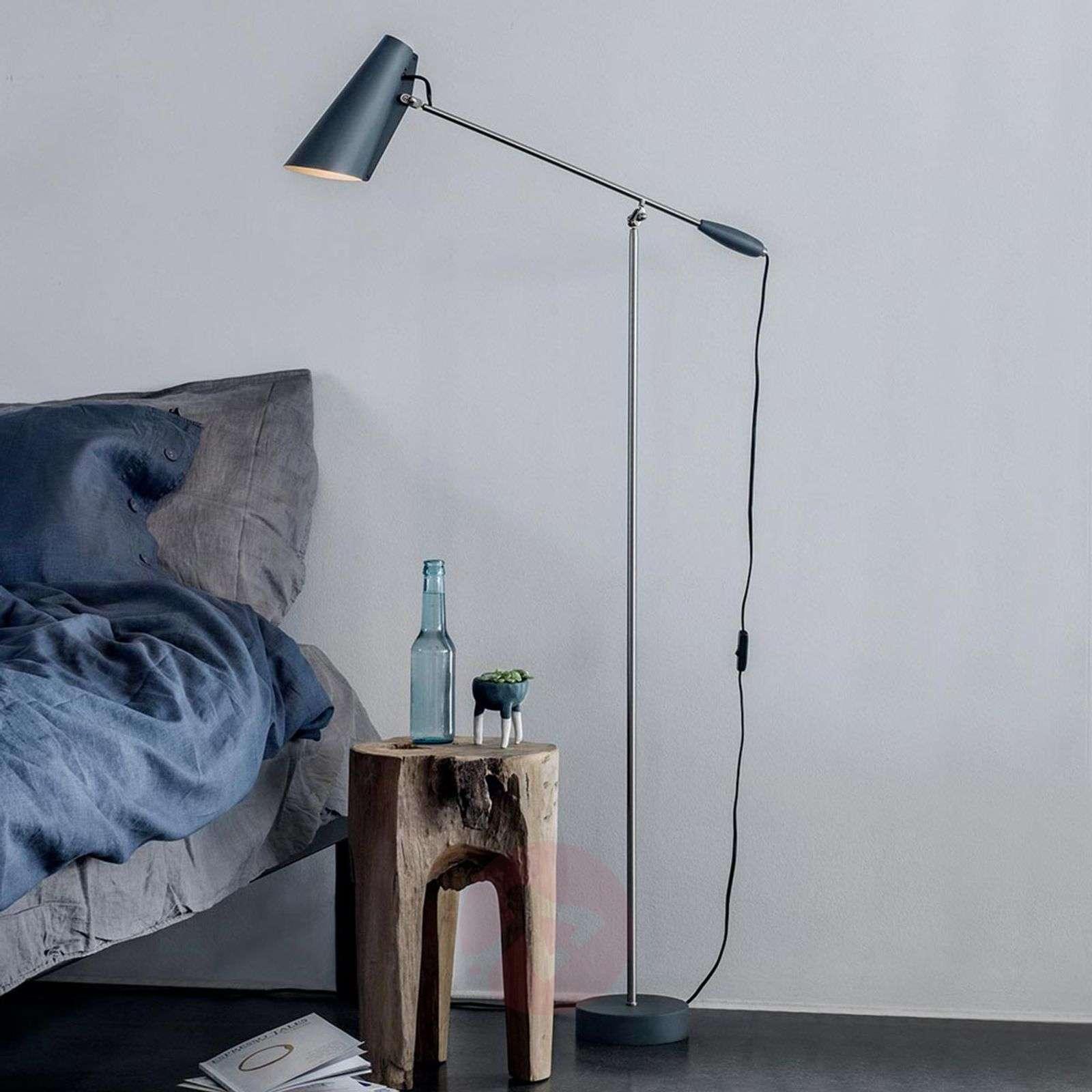 Grey retro floor lamp Birdy-7013104-01