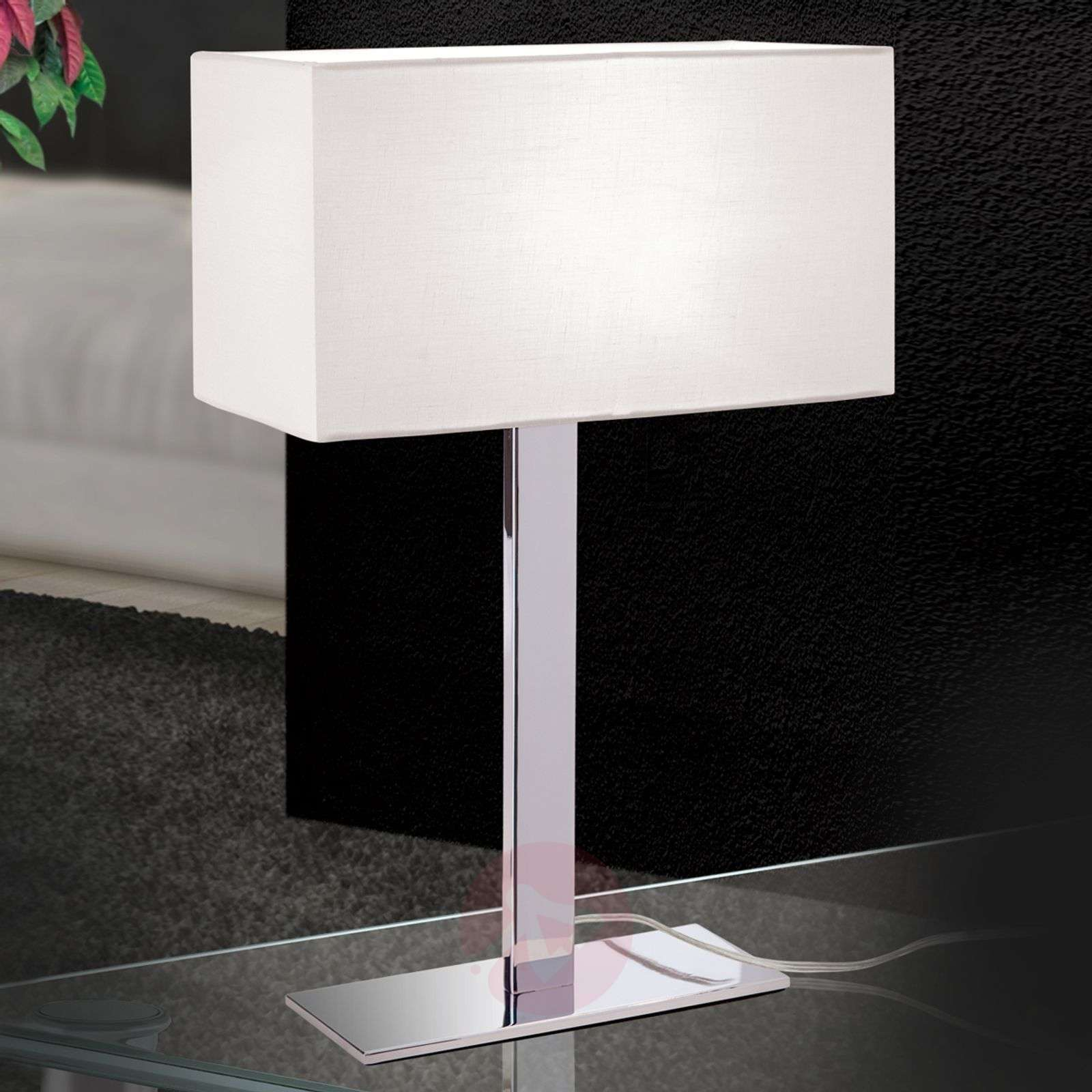 Grigor table lamp with a white linen lampshade-7255160-01