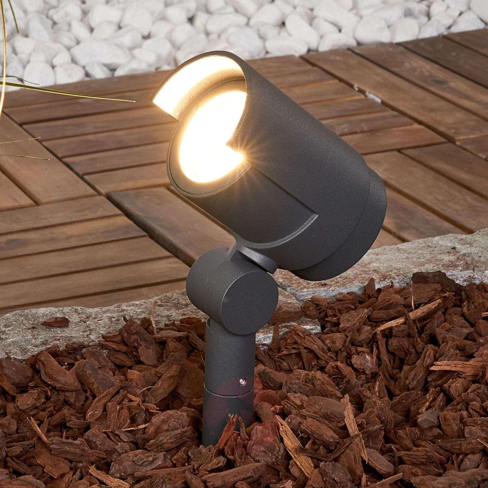 Ground stake spotlight Beatrix with LEDs-9616119-01
