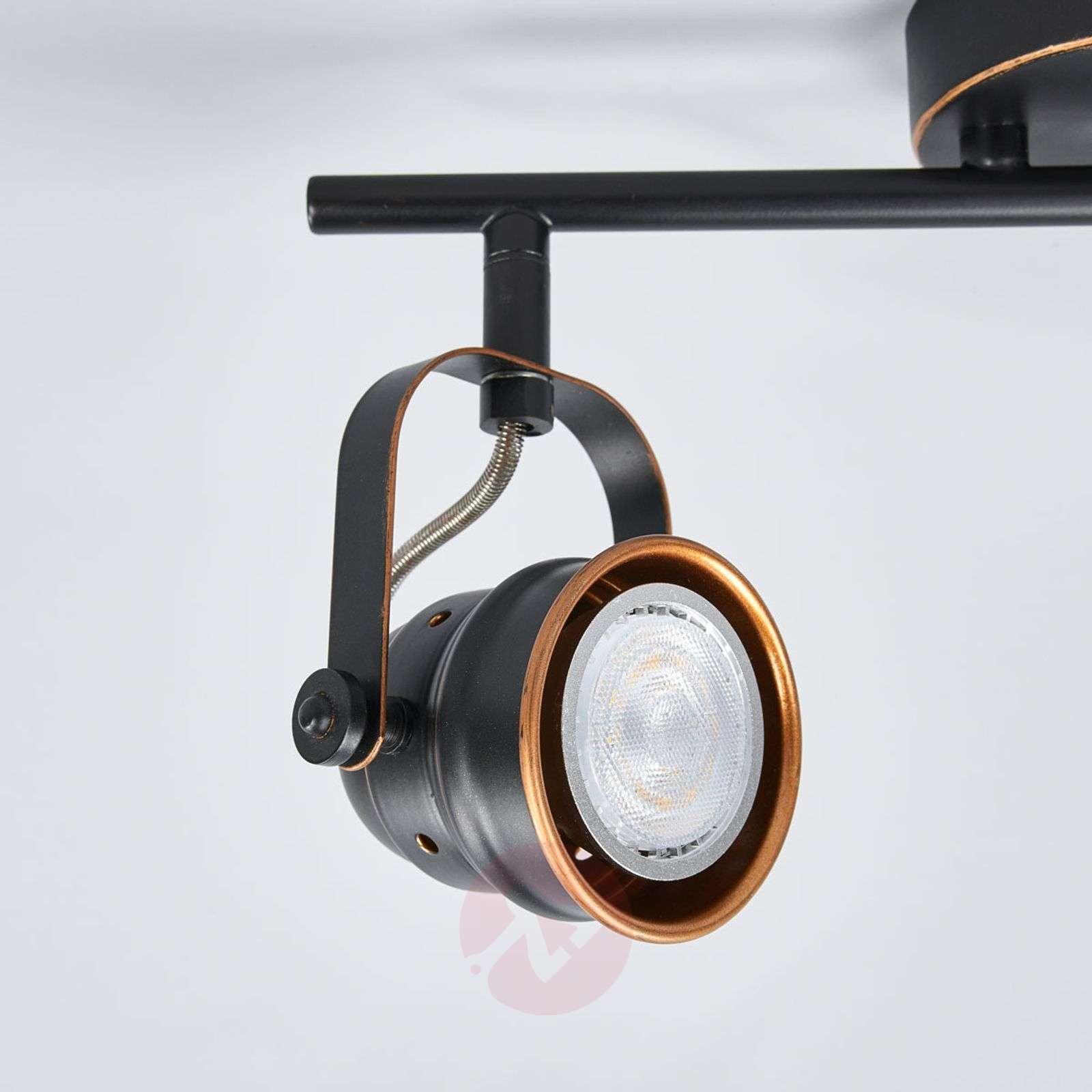 GU10 LED ceiling light Leonor, black and golden-9639067-01
