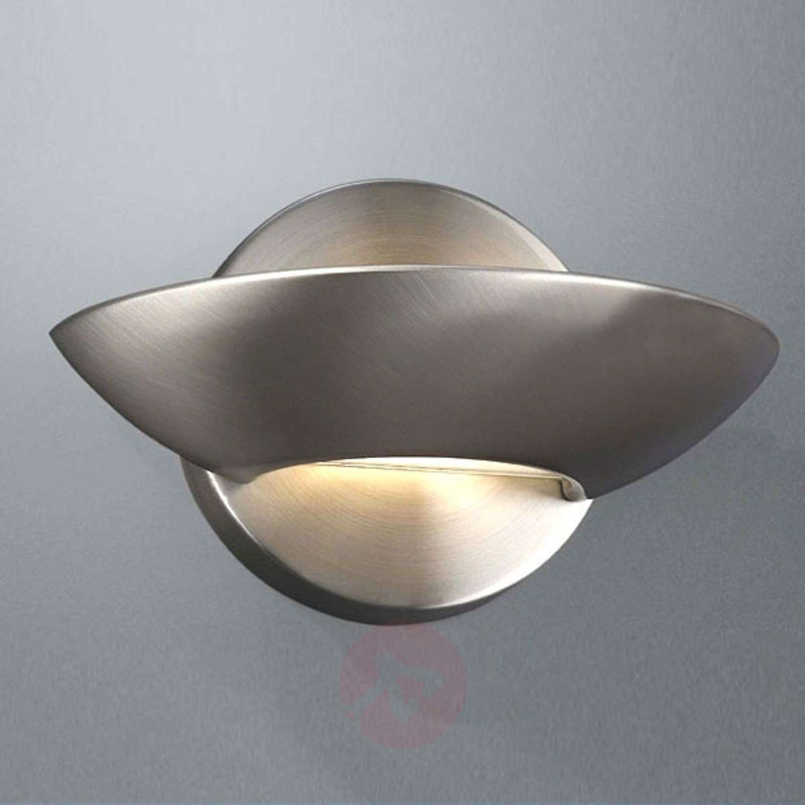 Halogen Wall Lamp Nicole Brushed Steel 6500063 01