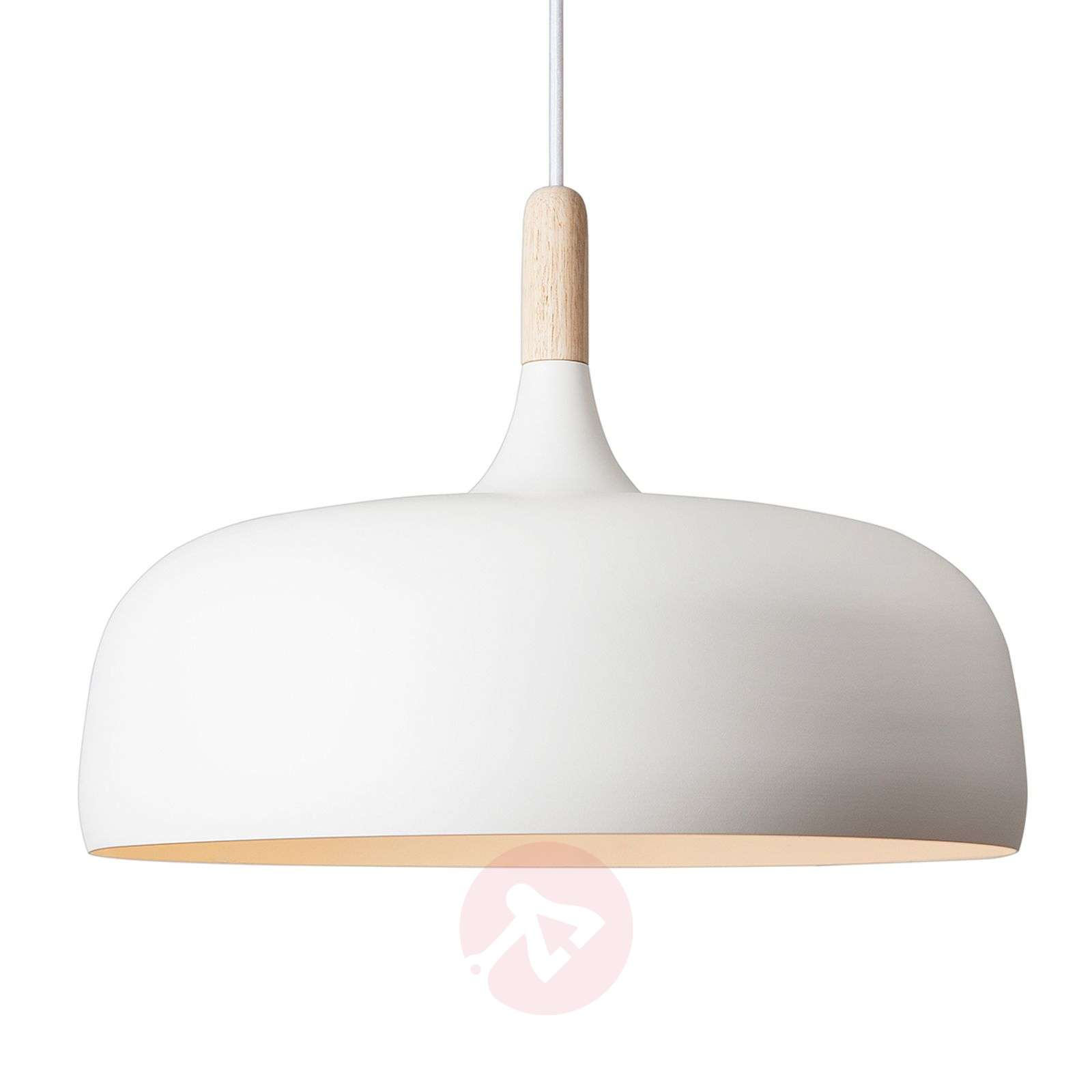 Hanging light Acorn made of aluminium in white-7013039-01