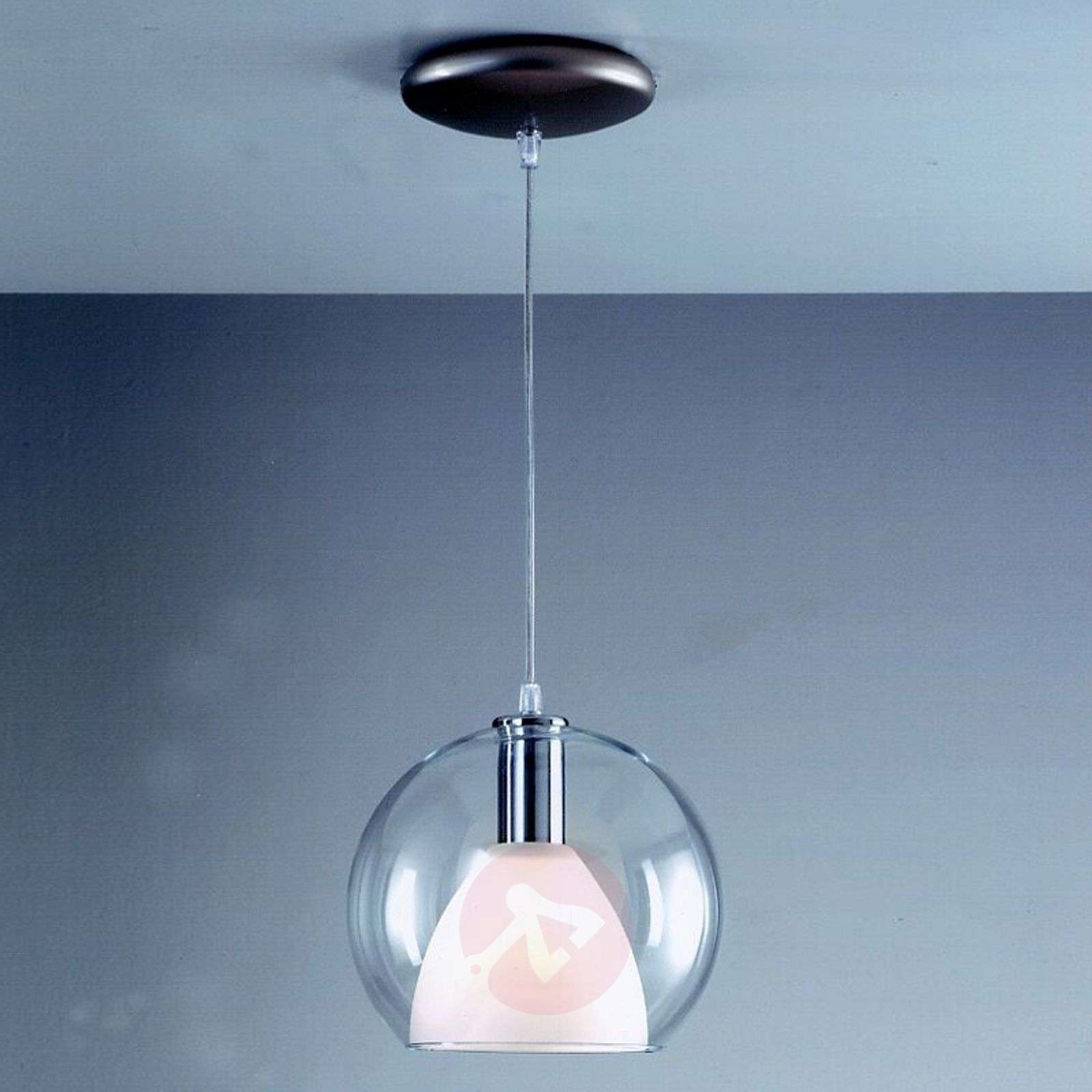 Hanging light BOLA with two glass lampshades-8532157-01