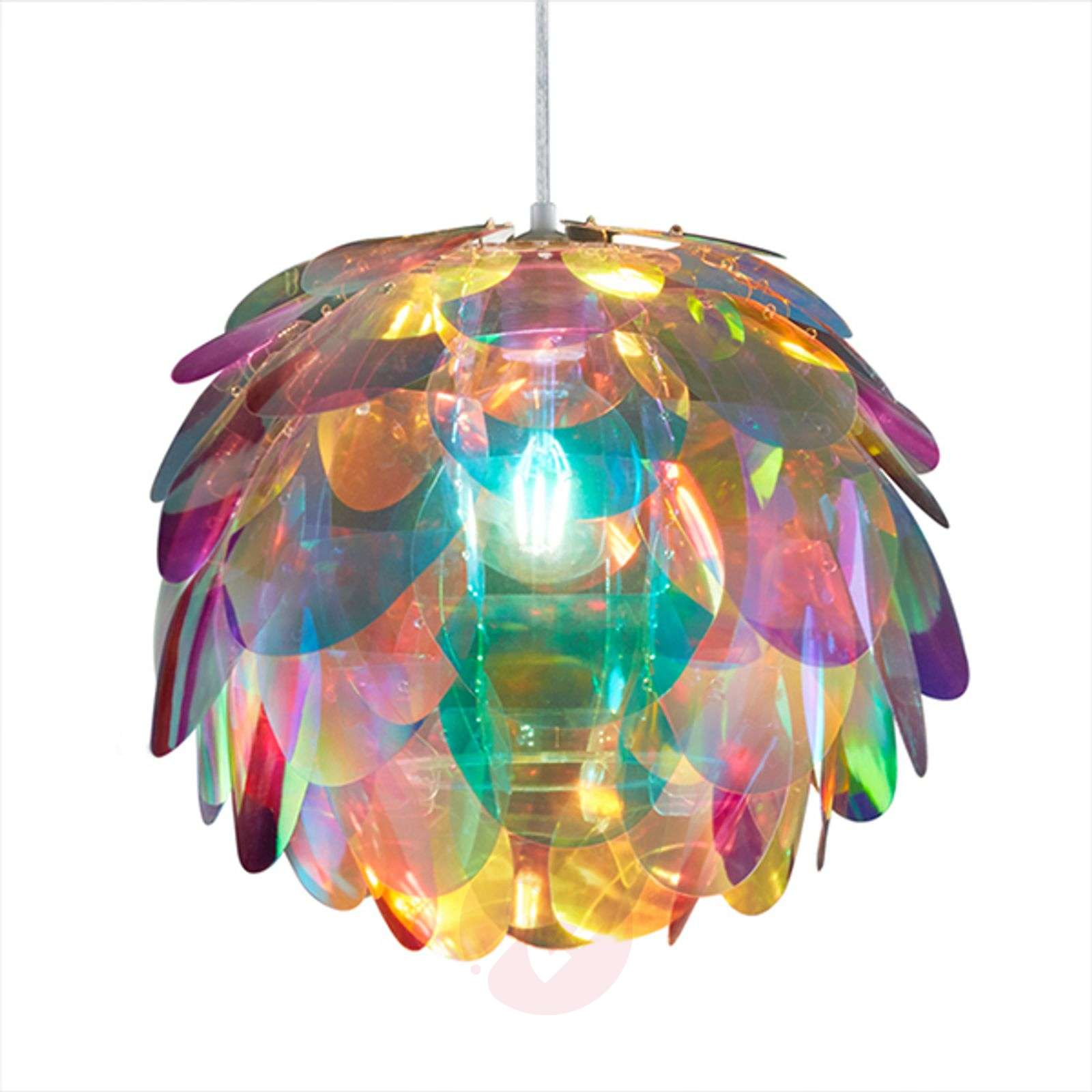 Hanging light Clover in rainbow colours-8029191-03