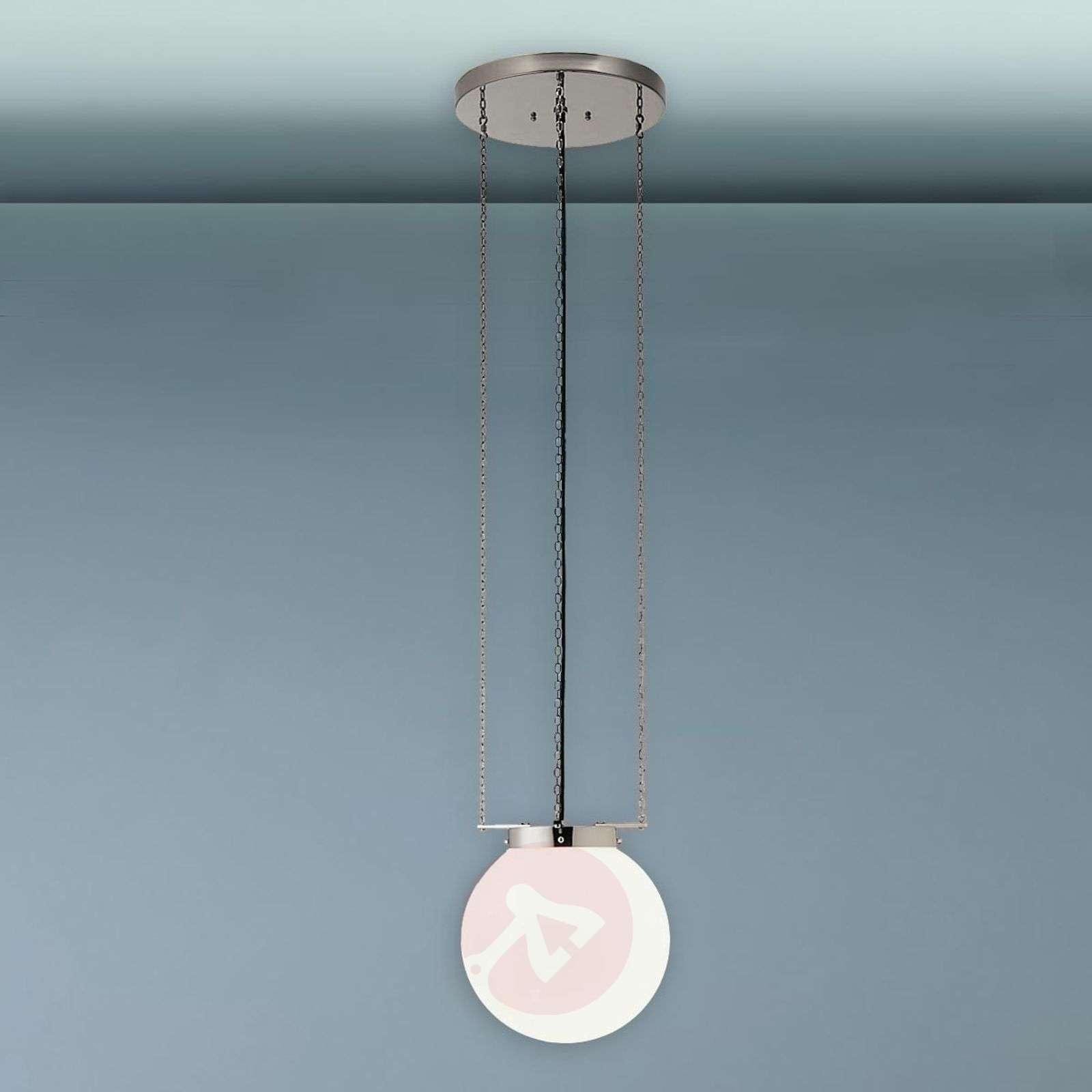 Hanging light in the Bauhaus style, nickel-9030144X-01