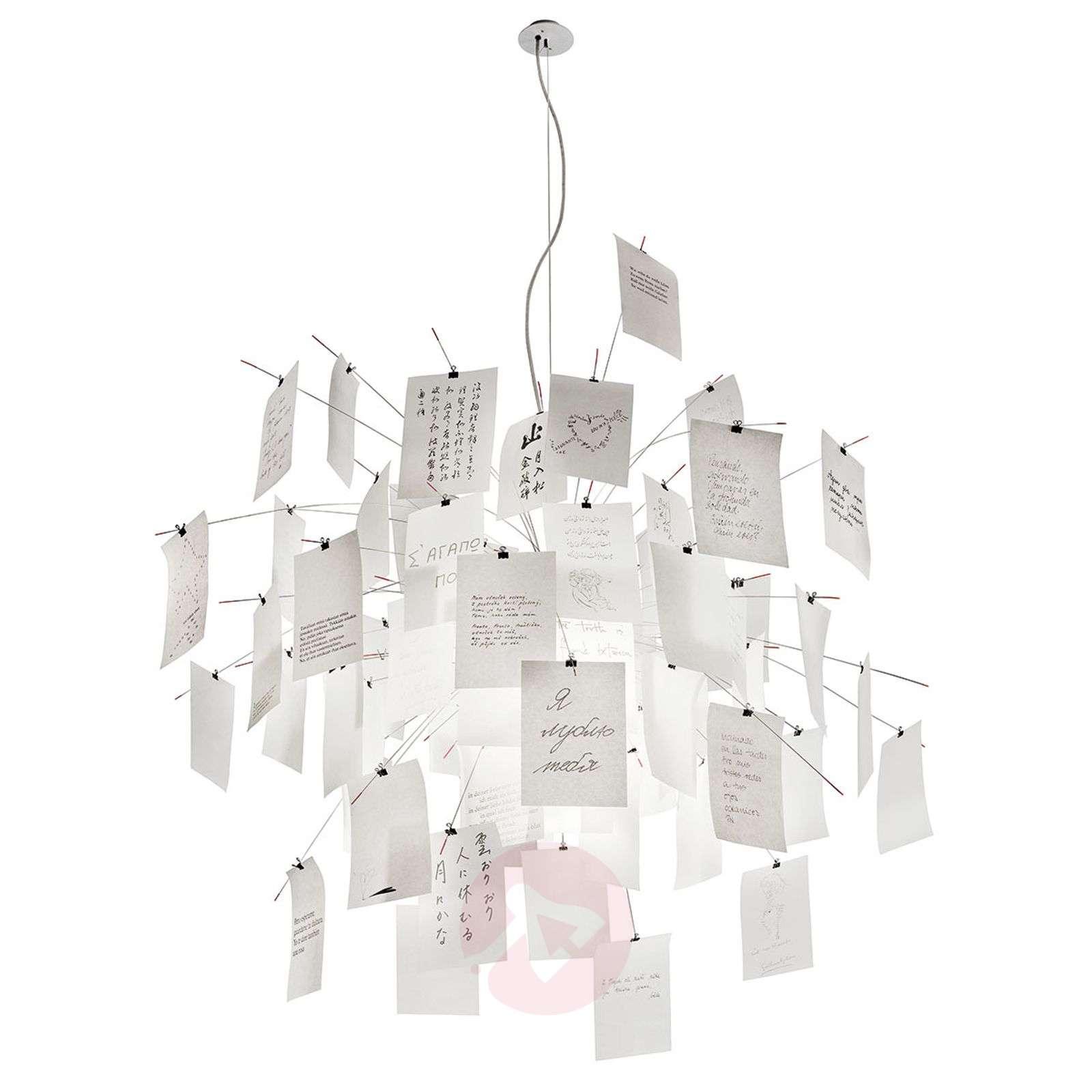 Hanging light Zettel'z 5 with slips of paper-5026056-03