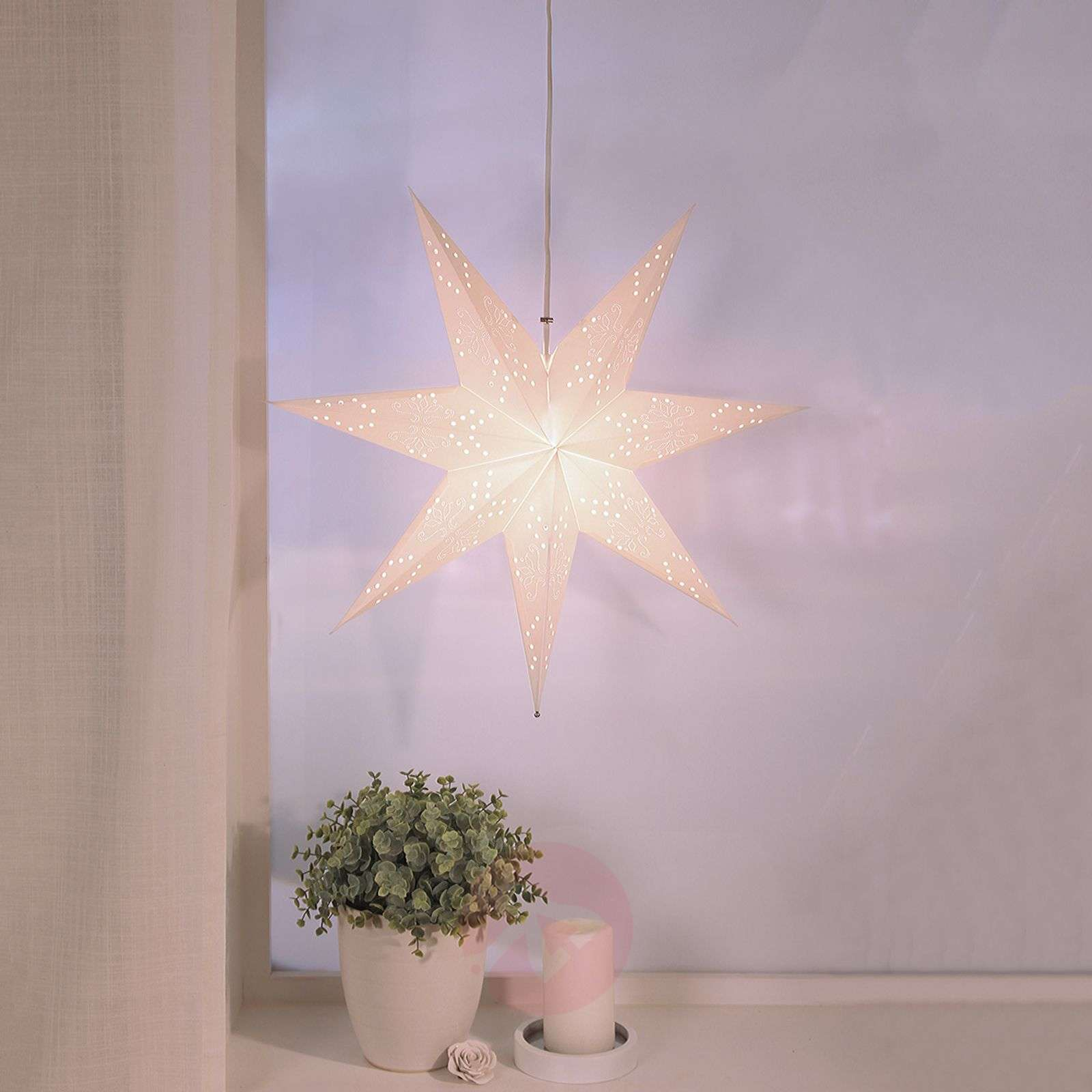 Hanging paper star Romantic Star-1522763-01